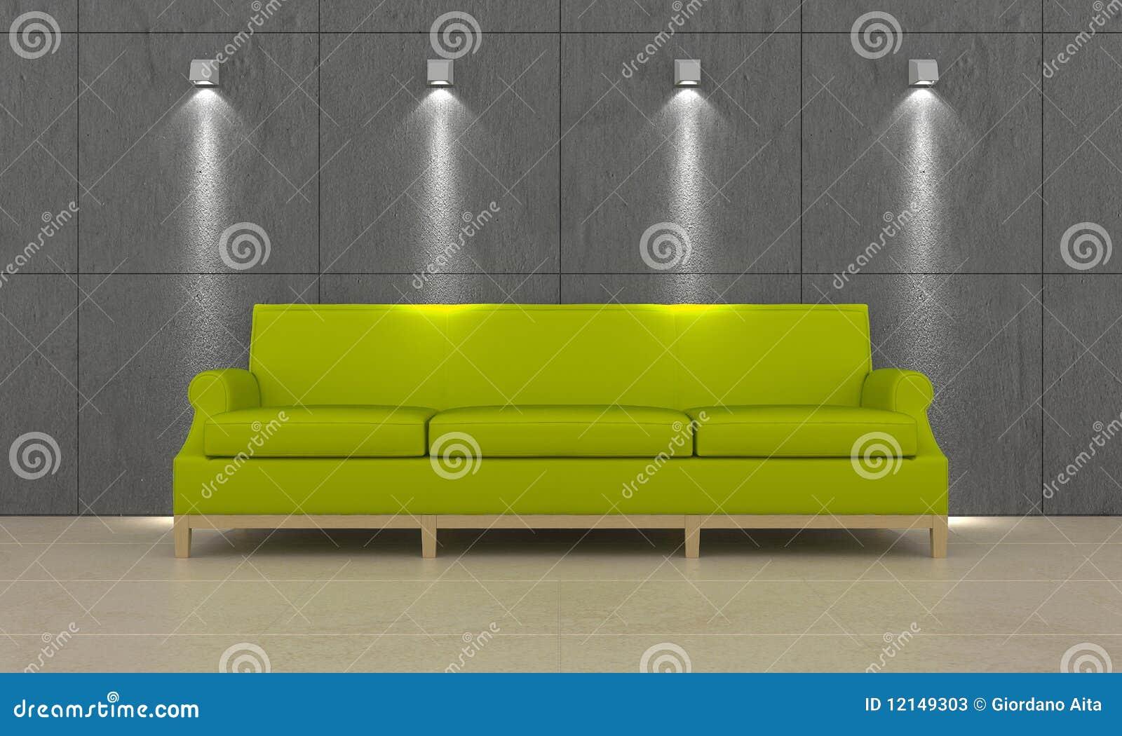 长沙发绿色