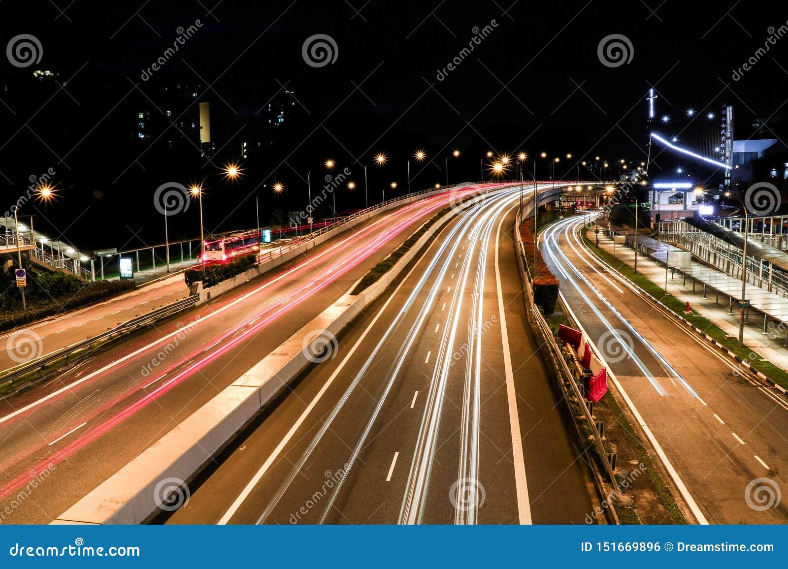 长的曝光高速公路射击