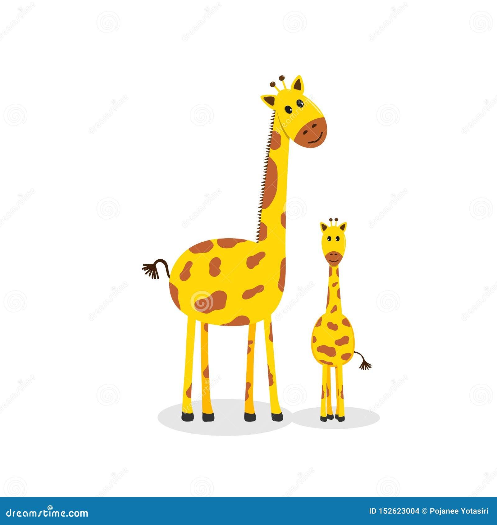 长颈鹿家庭,逗人喜爱的动画片长颈鹿