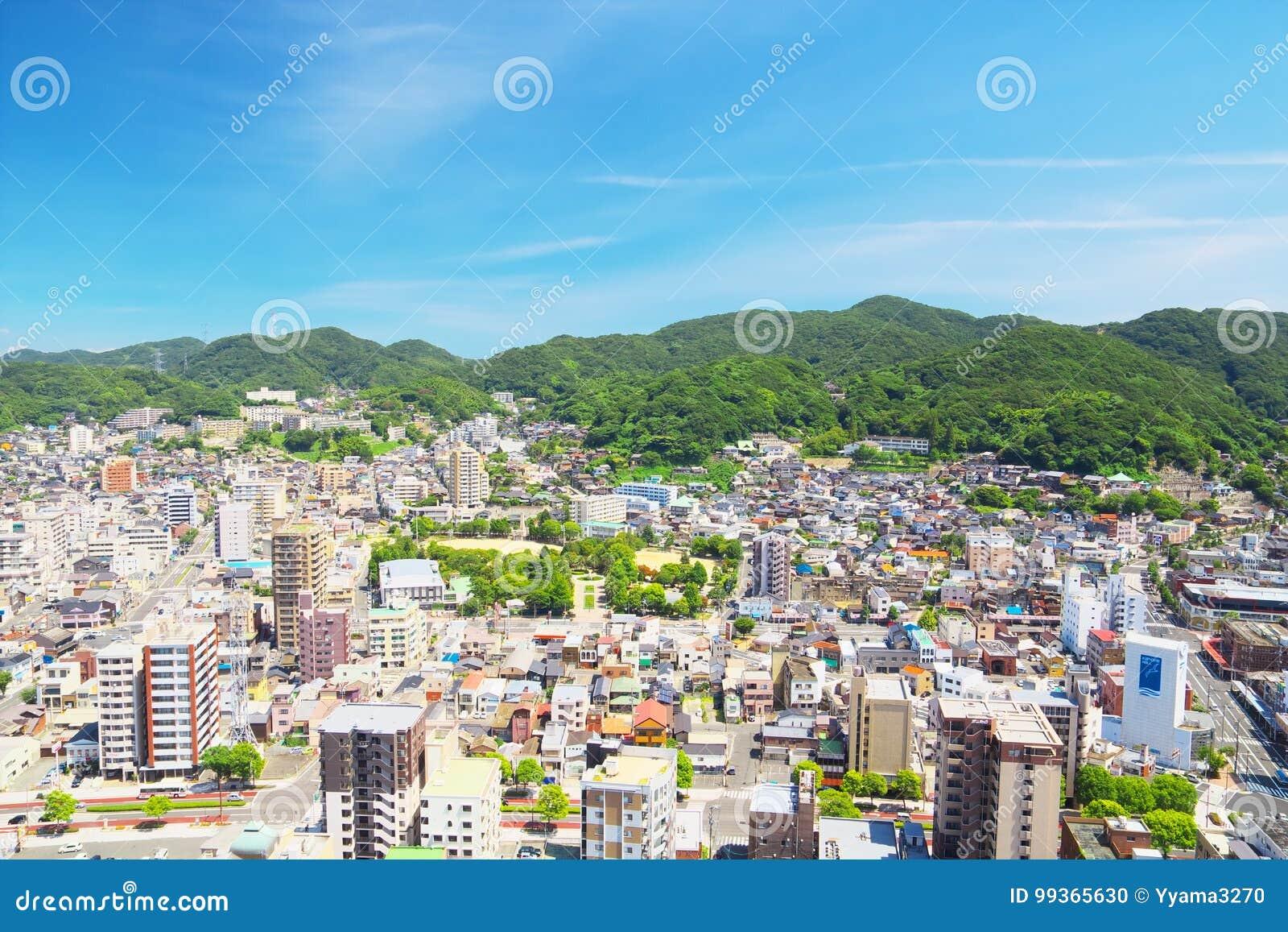 门司ku城市视图在北九州,日本