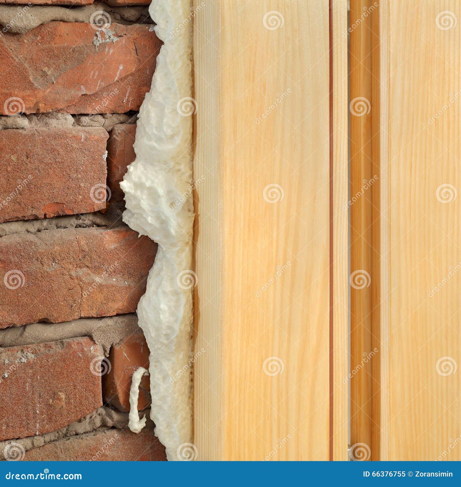 门的聚氨酯或窗口安装