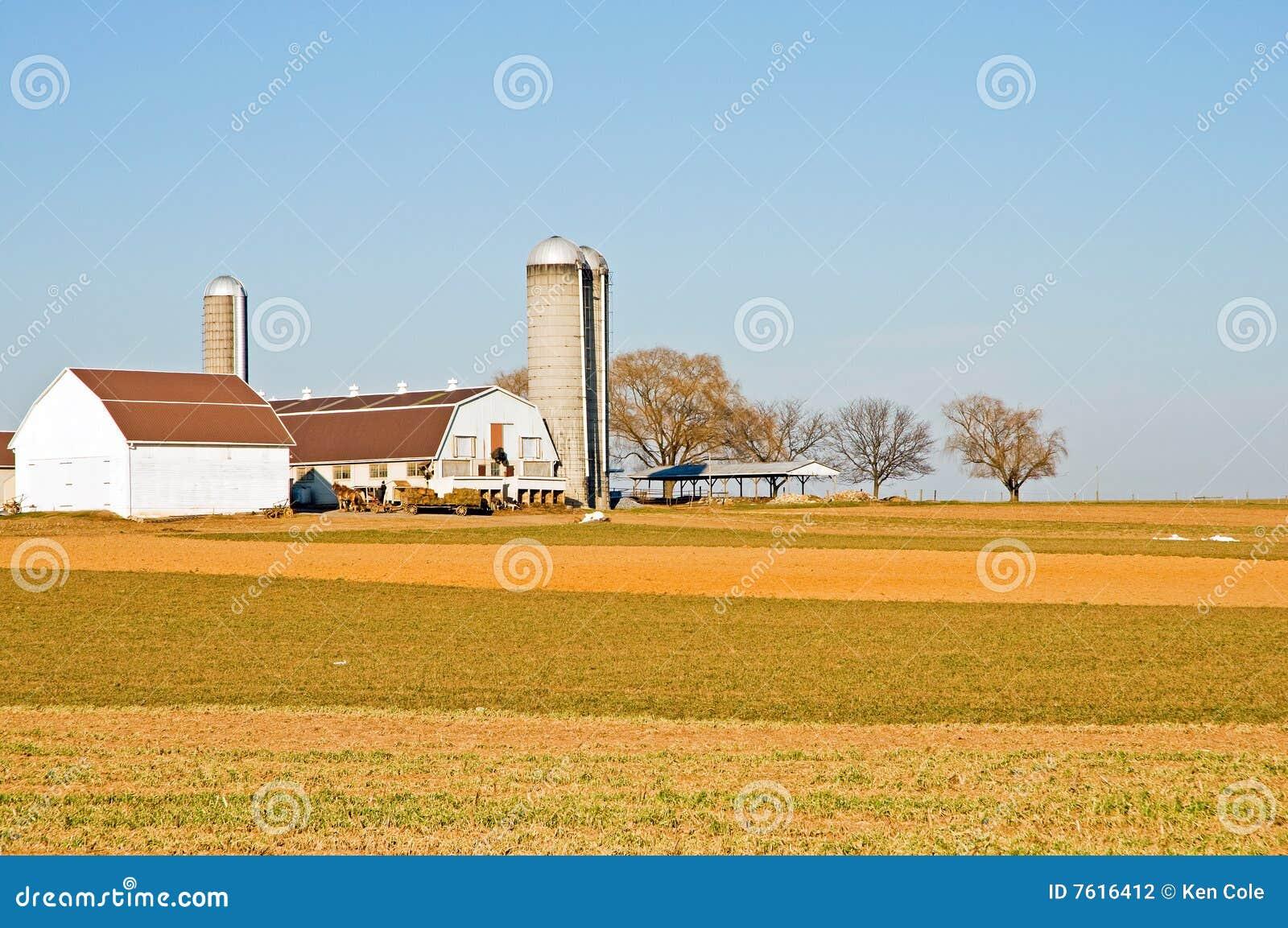 门诺派中的严紧派的谷仓种田筒仓