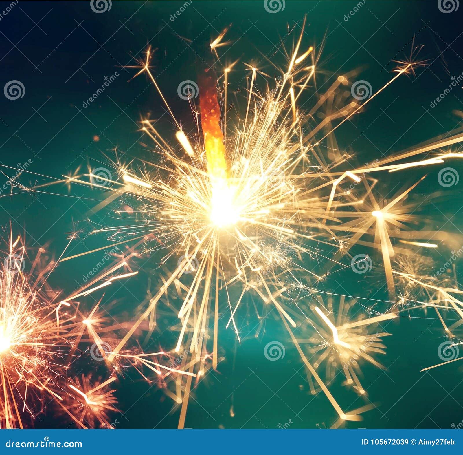 闪烁发光物火 背景庆祝新年度