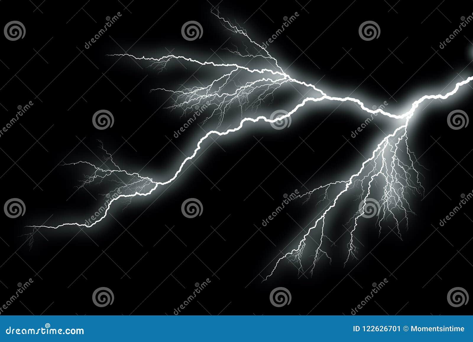 闪电有黑背景
