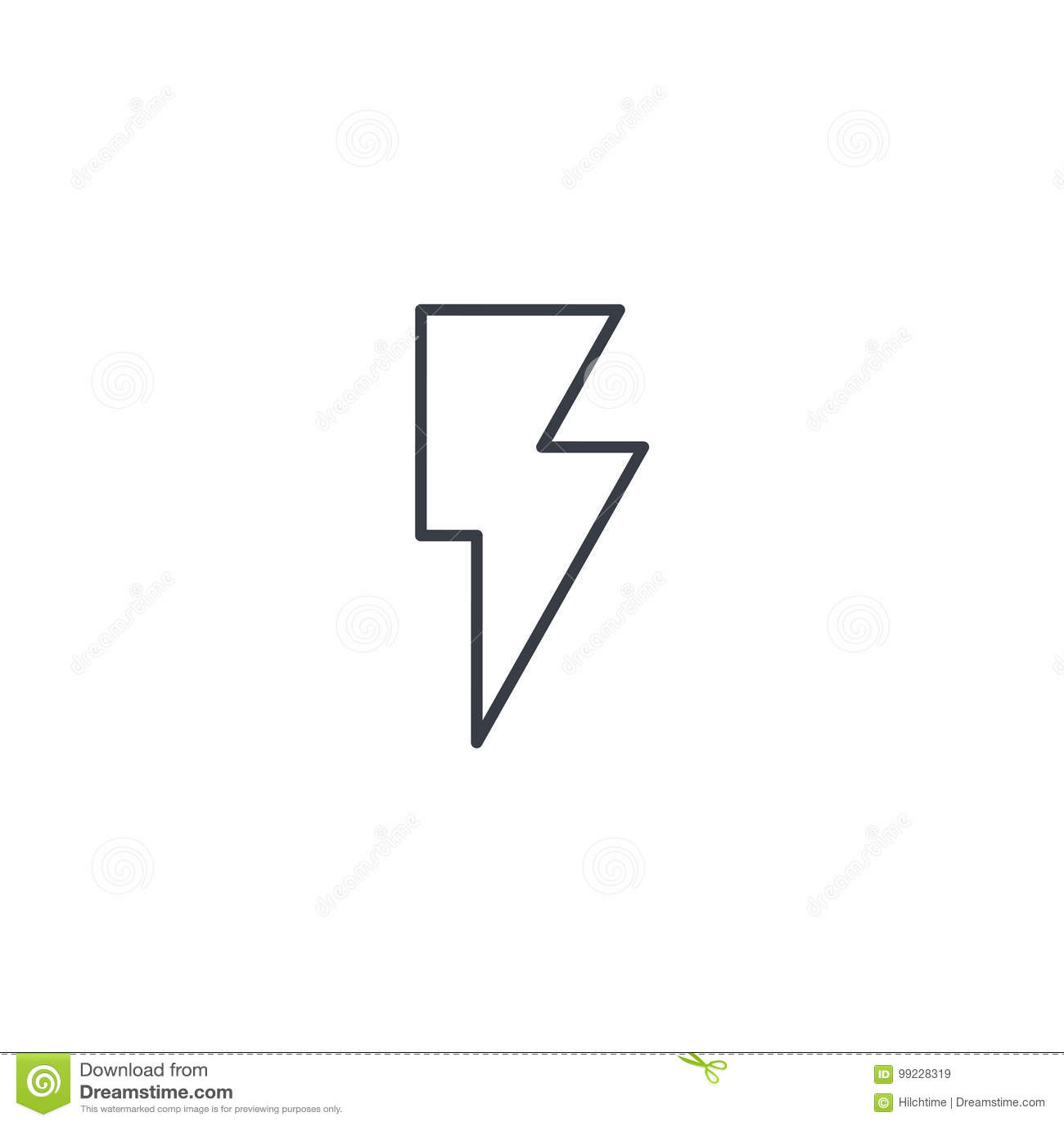 闪电,电稀薄的线象 线性传染媒介标志