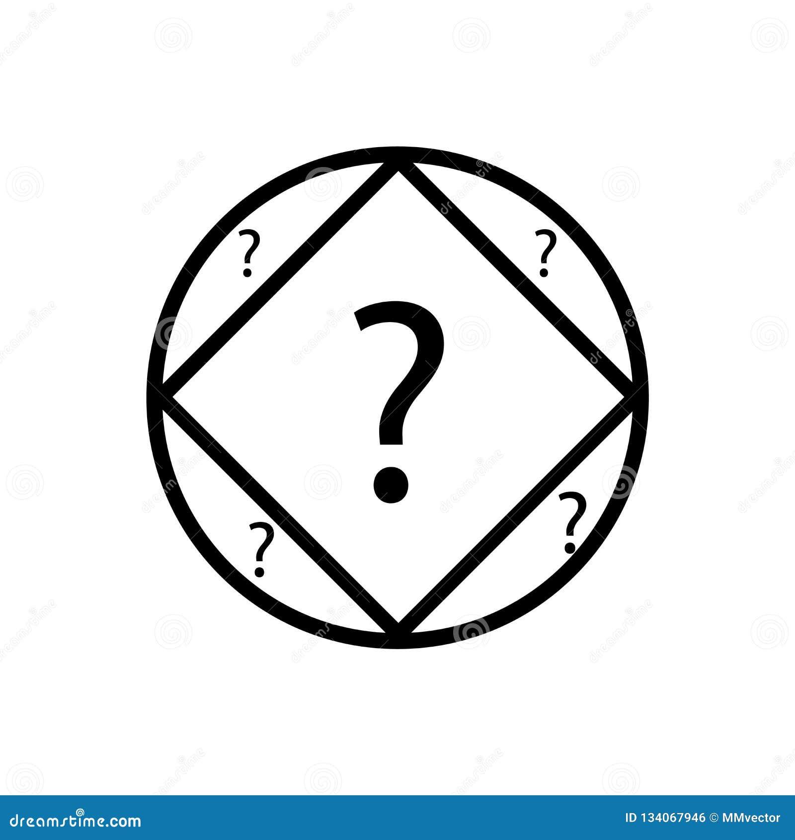 问题按钮象在白色背景和标志隔绝的传染媒介标志,问题按钮商标概念
