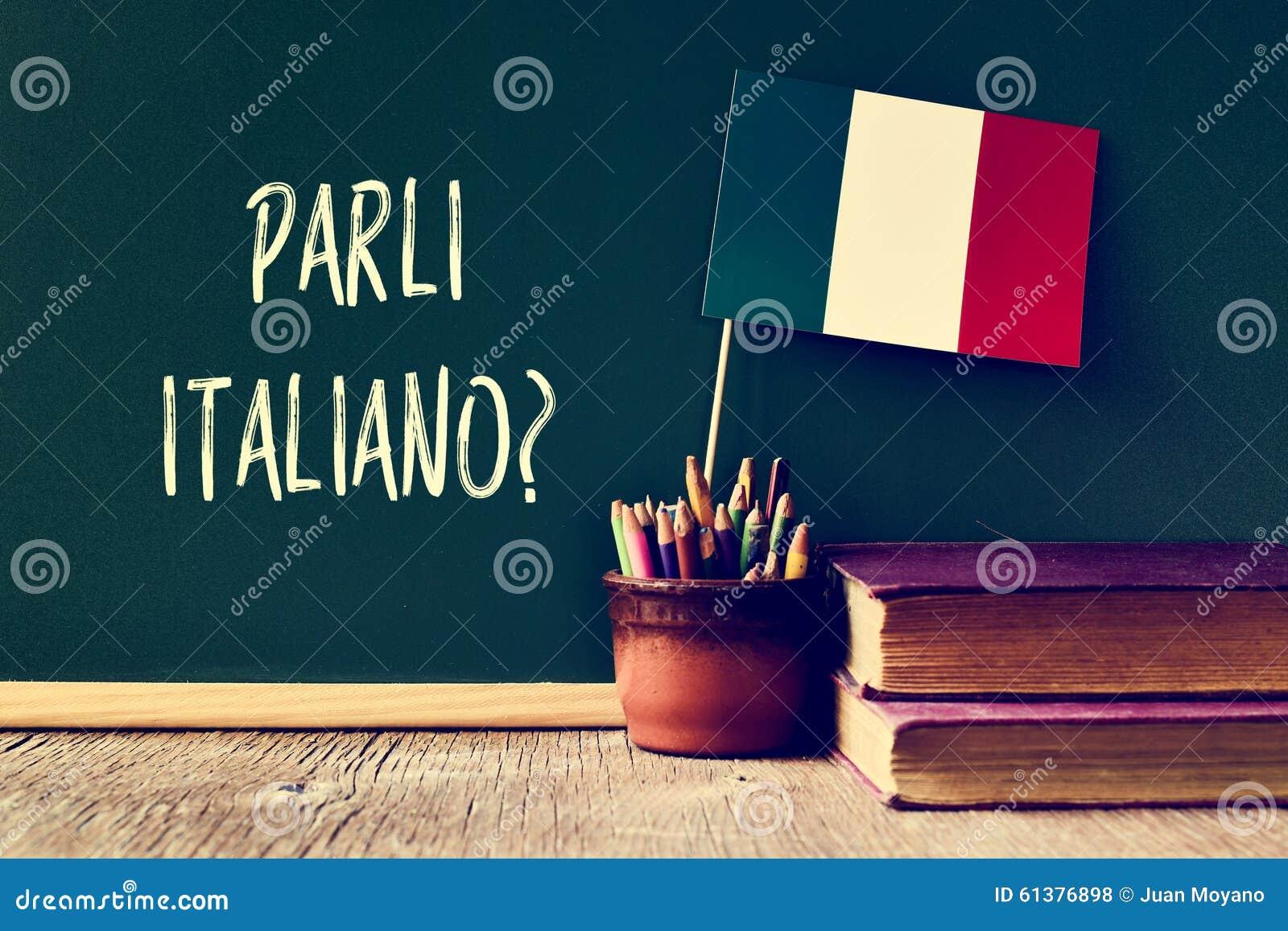 问题parli italiano ?您是否讲意大利语?