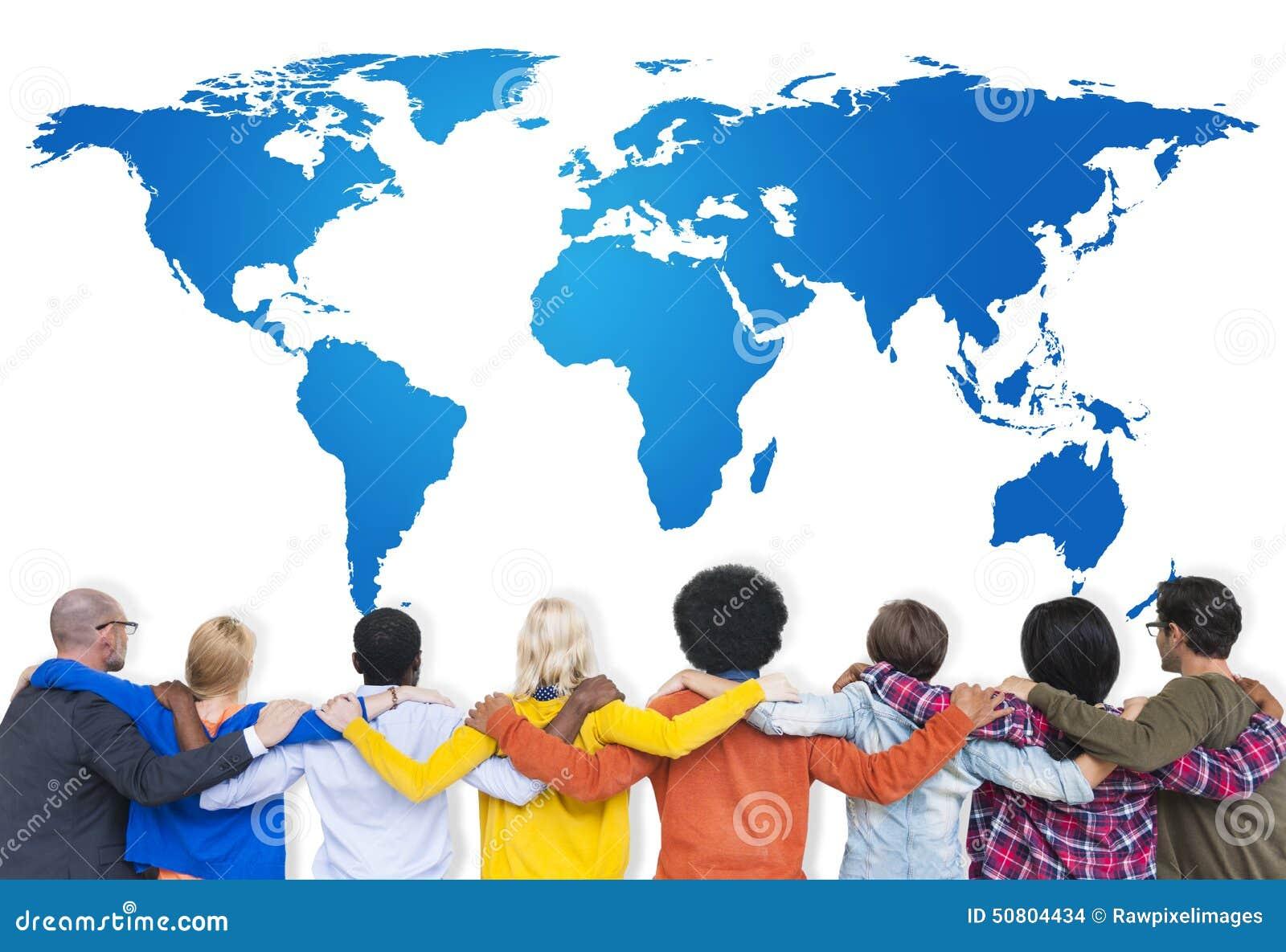 队合作杂乱的一团战略全球性计划概念