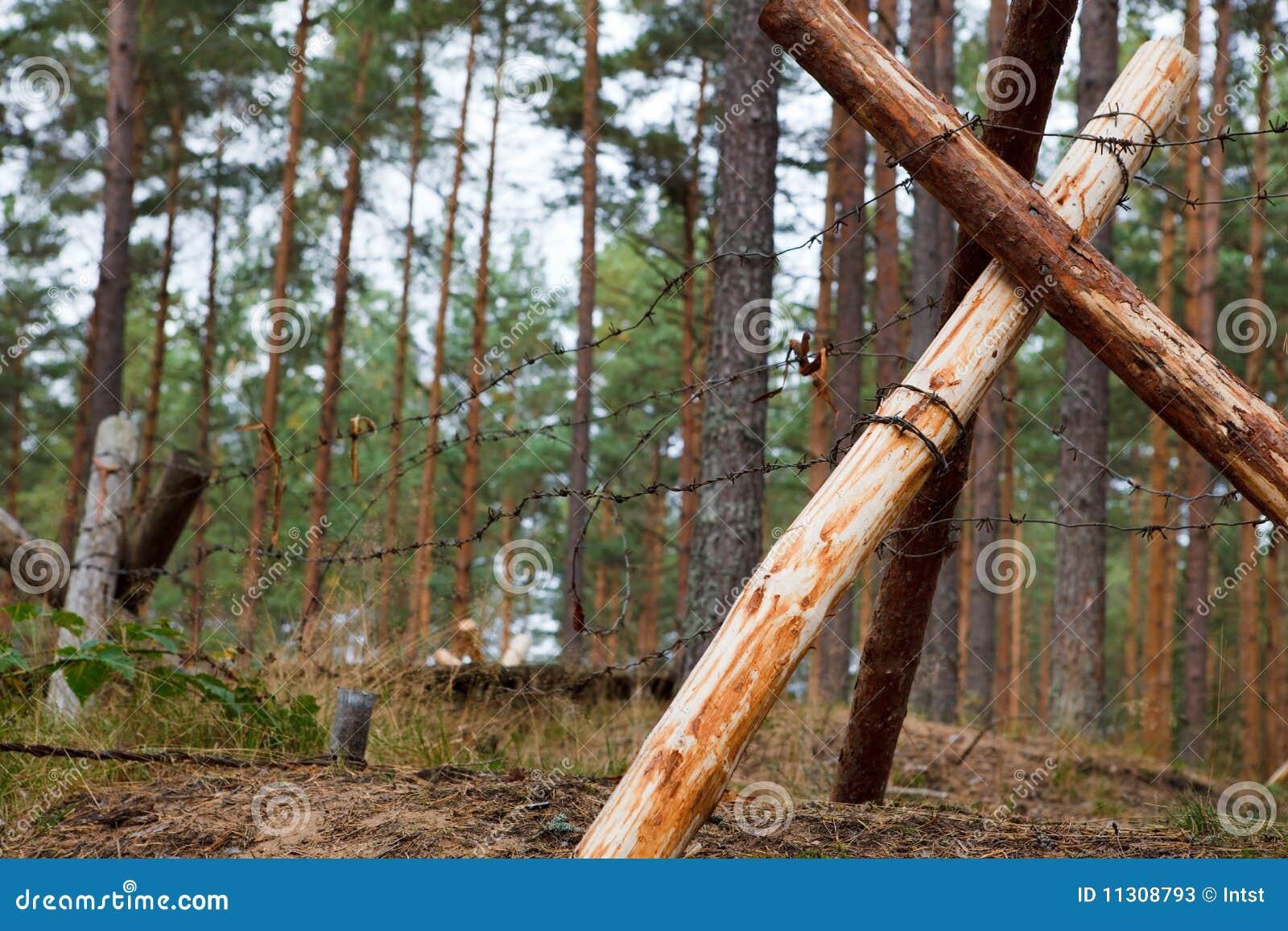 防御森林沟槽
