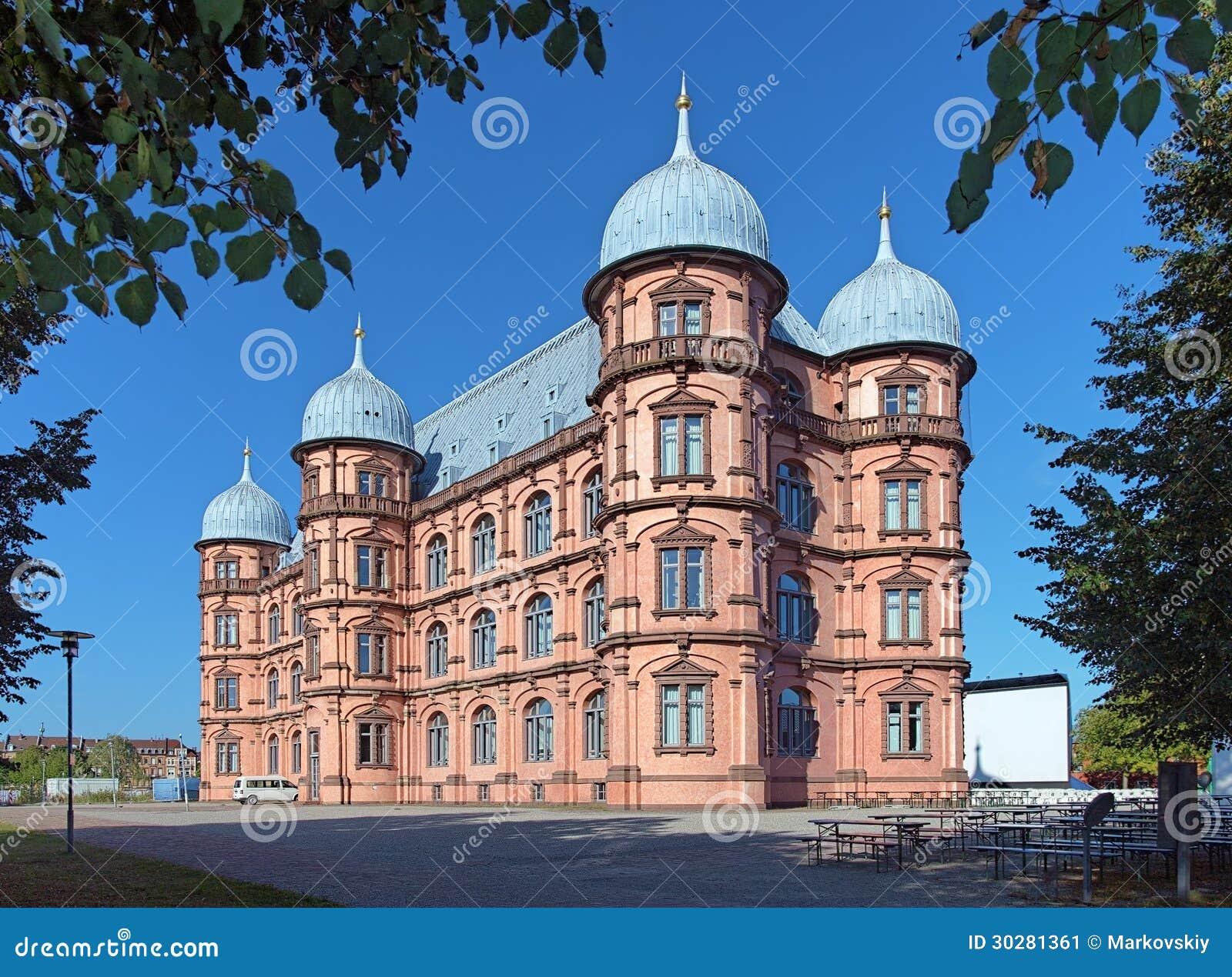 城堡Gottesaue在卡尔斯鲁厄,德国