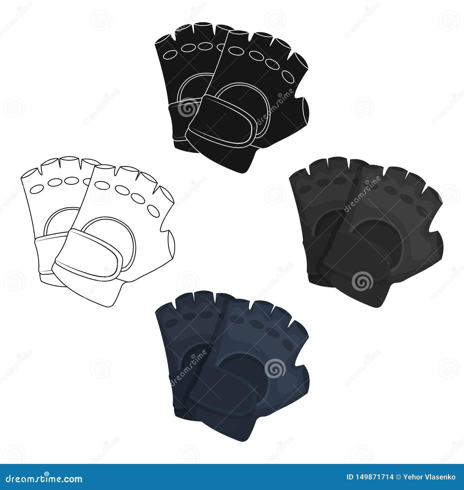 防护手套 在动画片,黑样式传染媒介标志股票例证网的迷彩漆弹运动唯一象