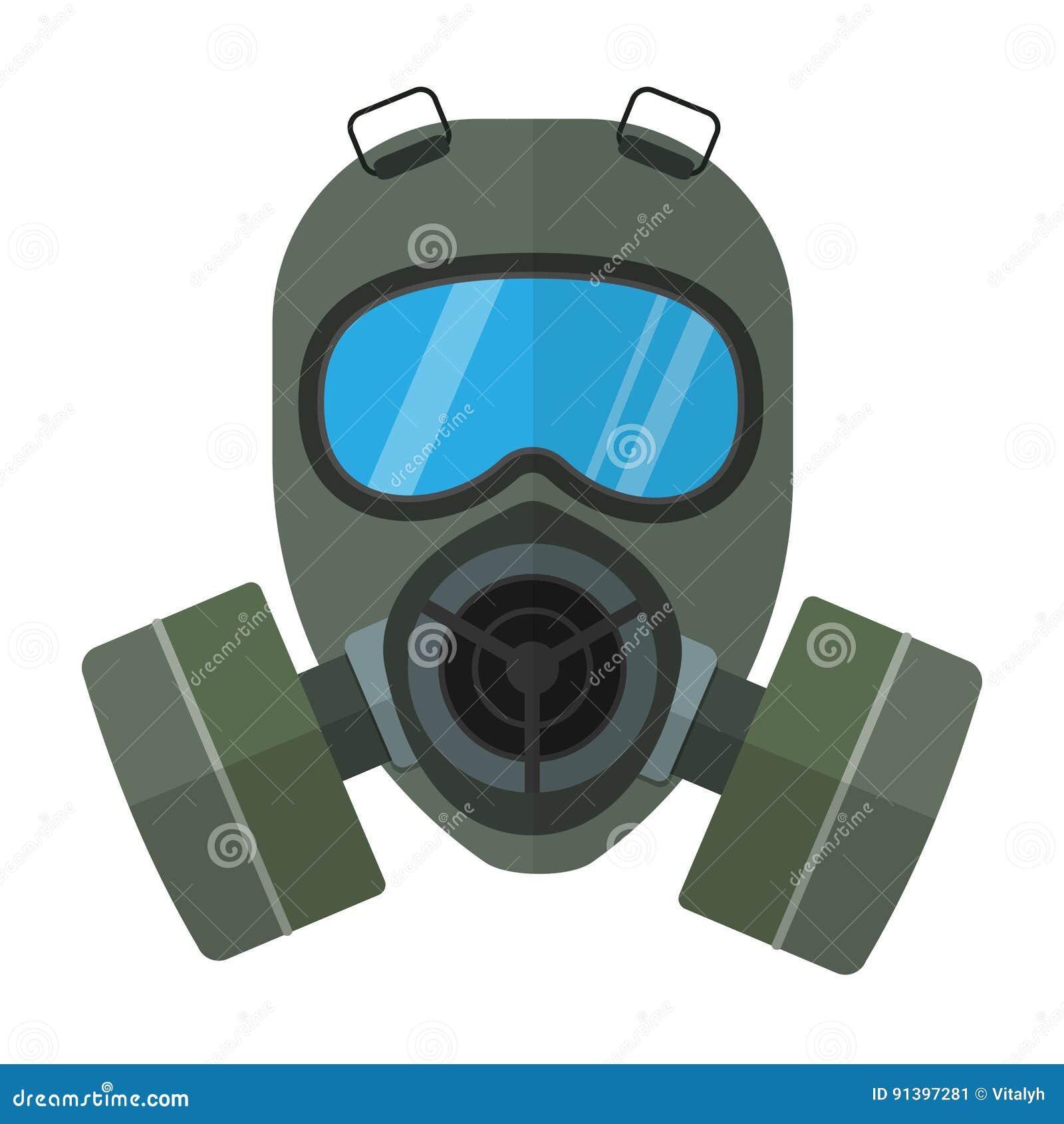 防毒面具平的传染媒介例证