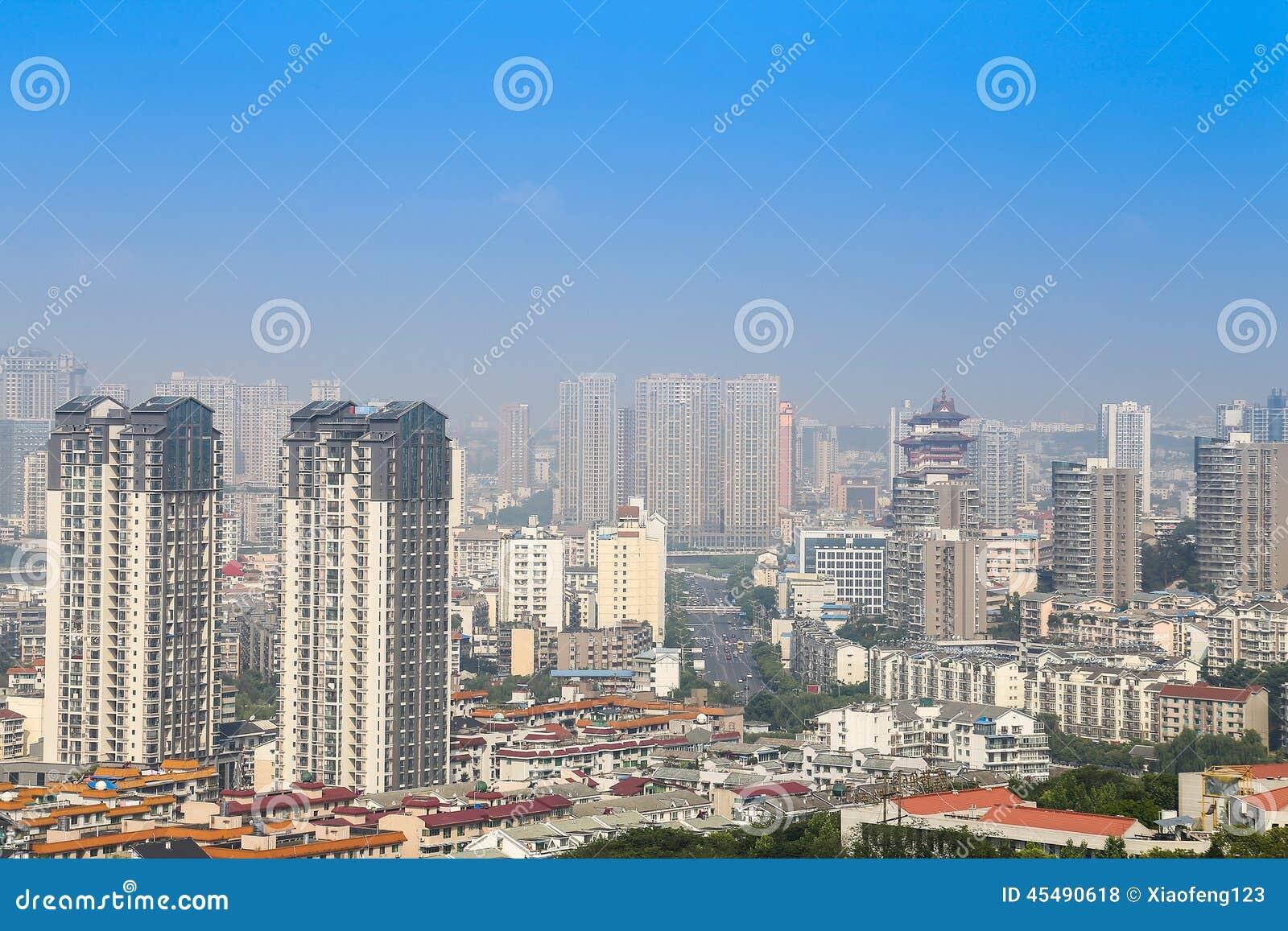 绵阳,瓷,城市全景