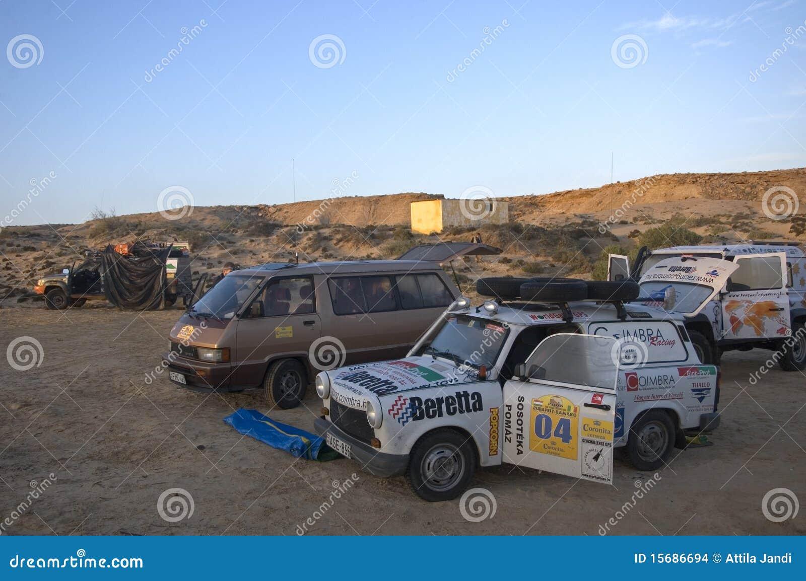 阵营沙漠西部的撒哈拉大沙漠