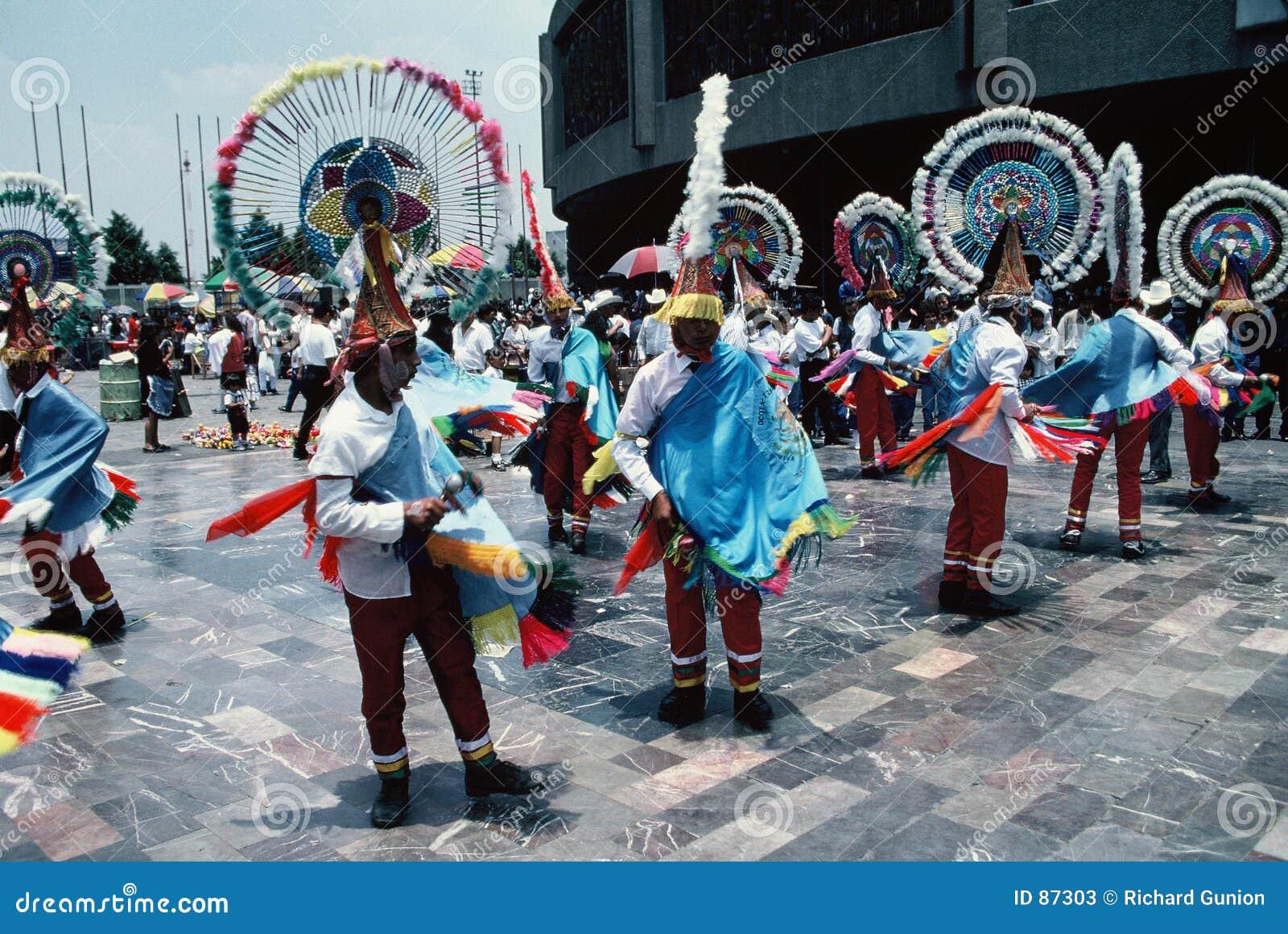 阿兹台克城市舞蹈演员墨西哥