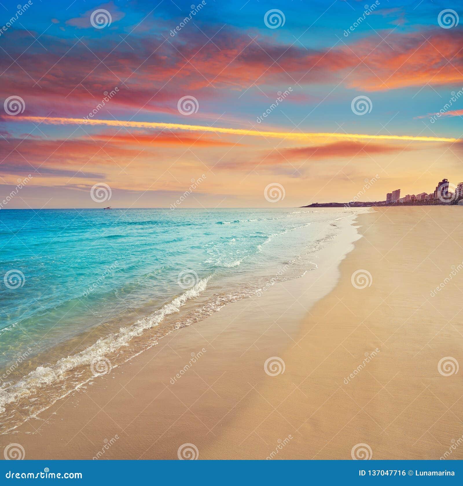 阿利坎特海滩playa西班牙圣胡安