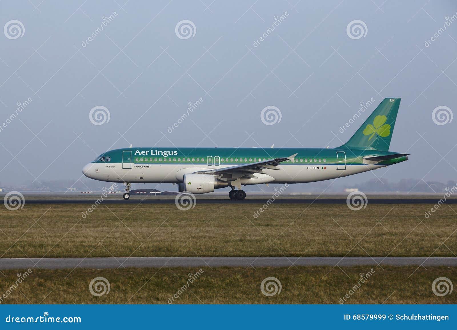 阿姆斯特丹史基浦机场-爱尔兰航空空客320离开
