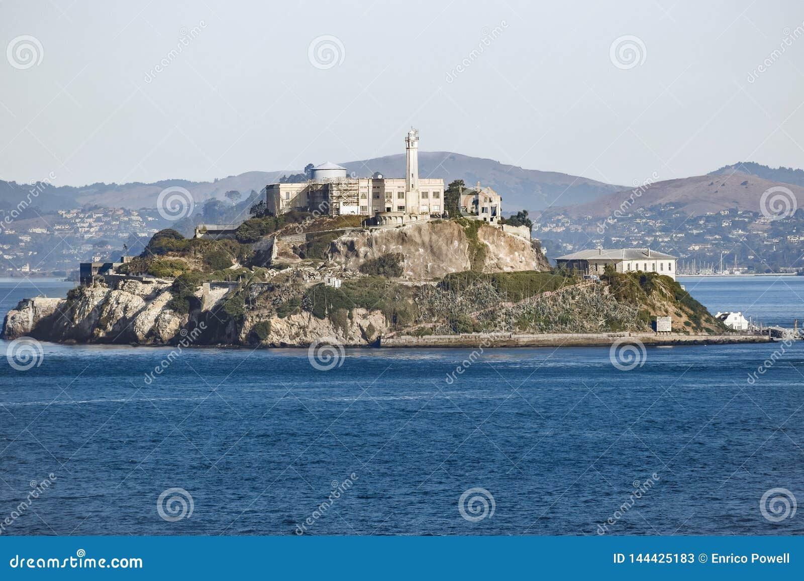 阿尔卡特拉斯岛监狱海岛在旧金山,加利福尼亚