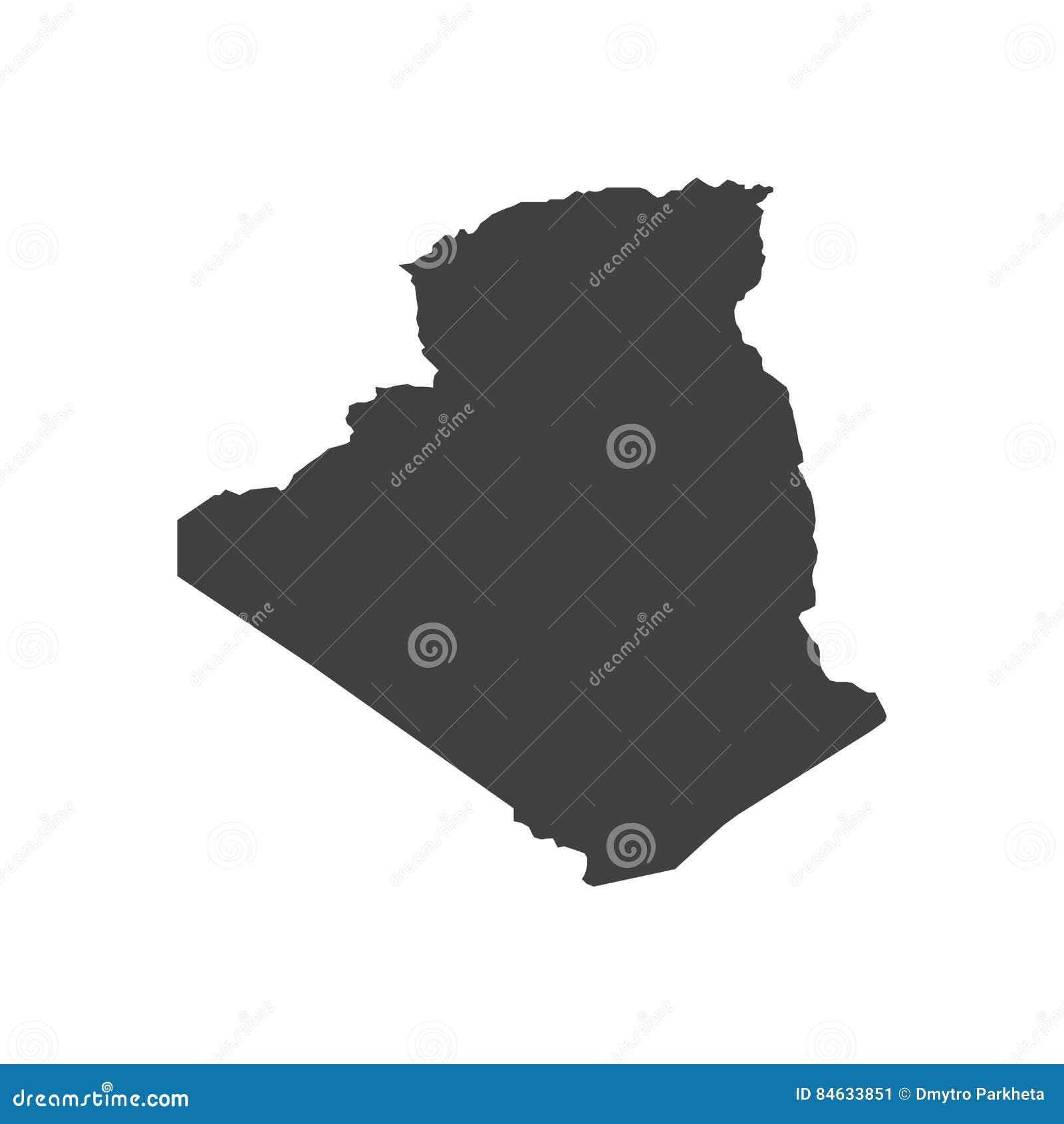 阿尔及利亚地图剪影例证