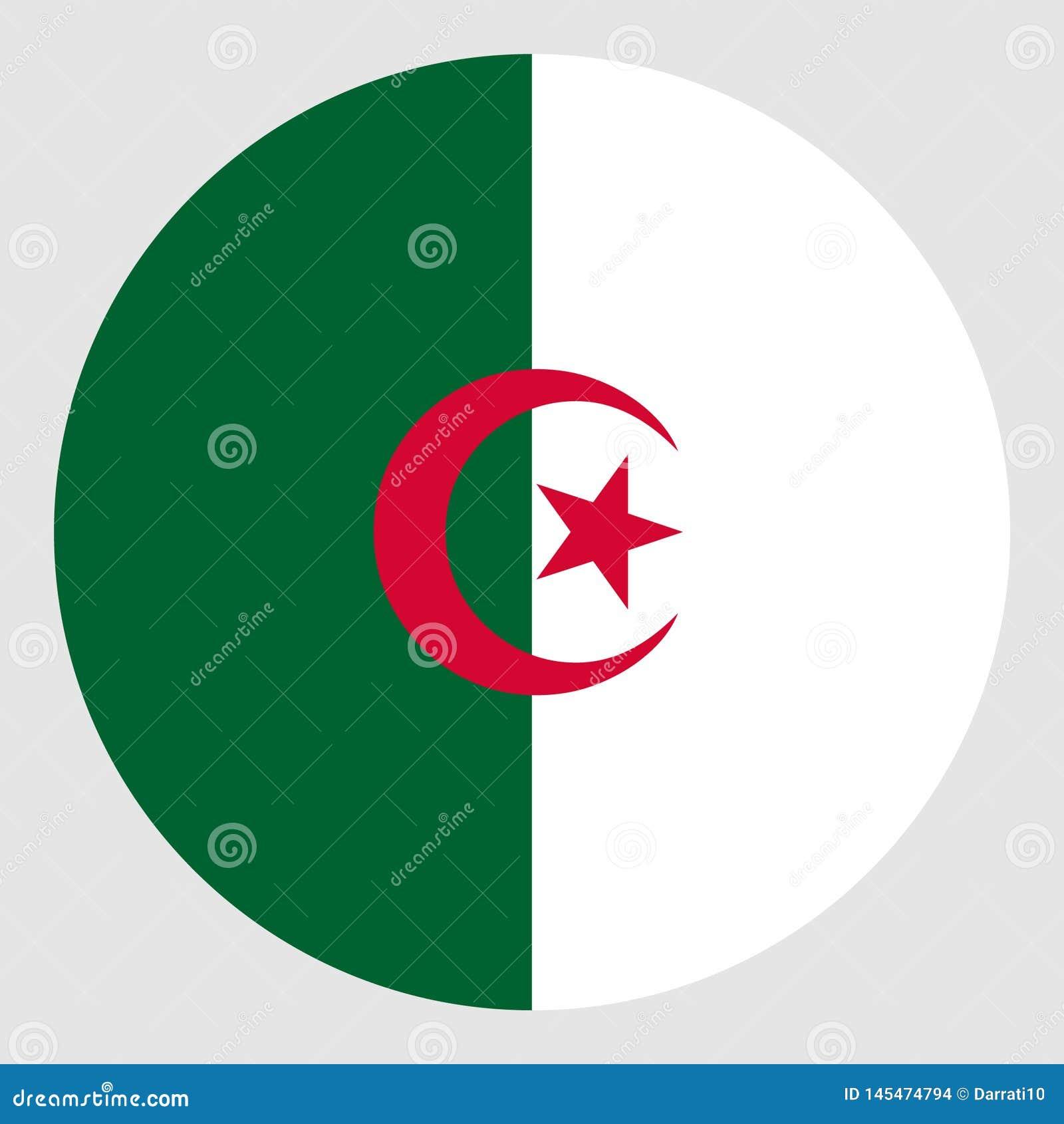 阿尔及利亚的旗子