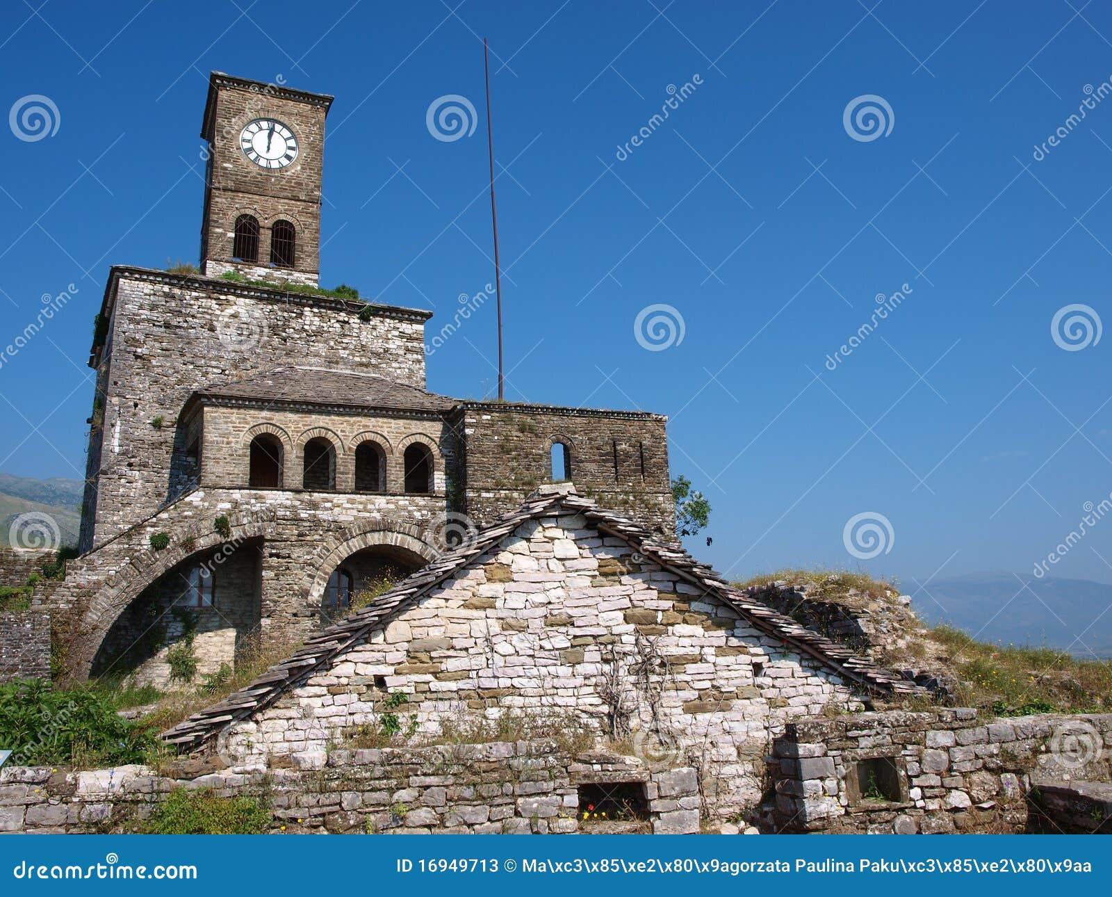 阿尔巴尼亚城堡gjirokastra
