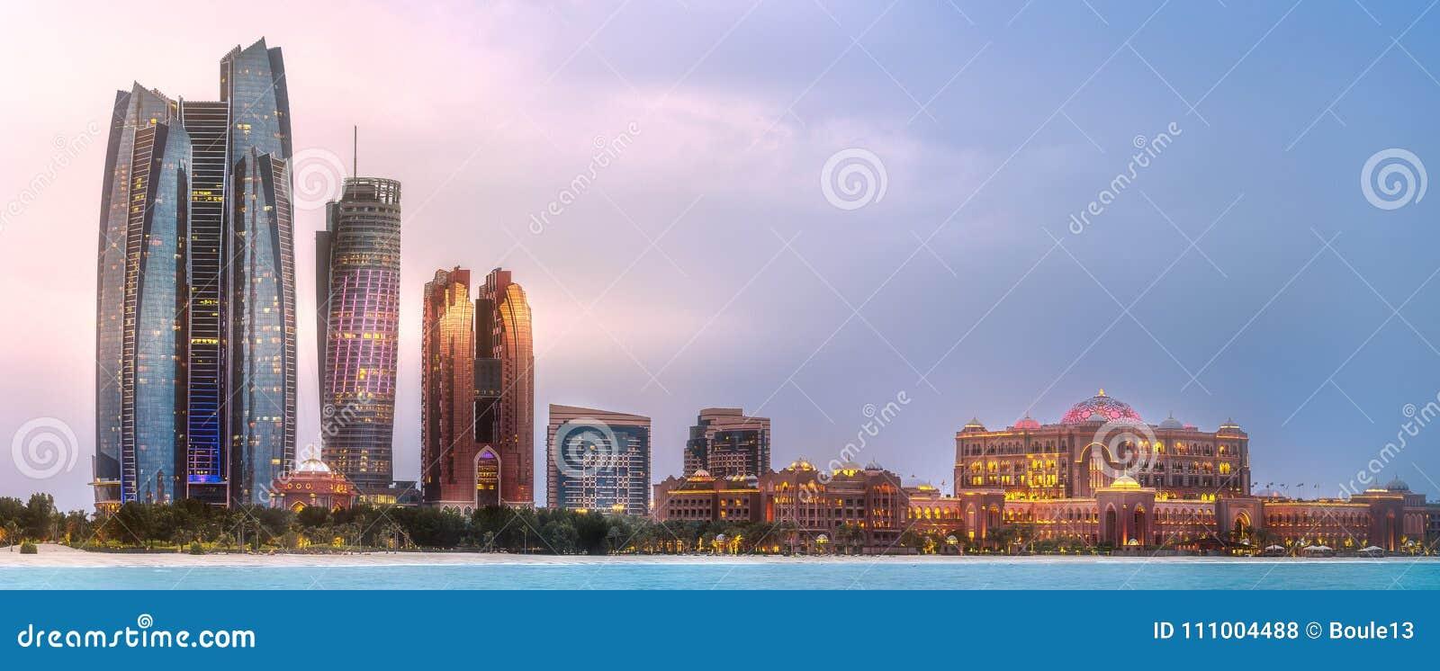 阿布扎比地平线看法在日出,阿拉伯联合酋长国的