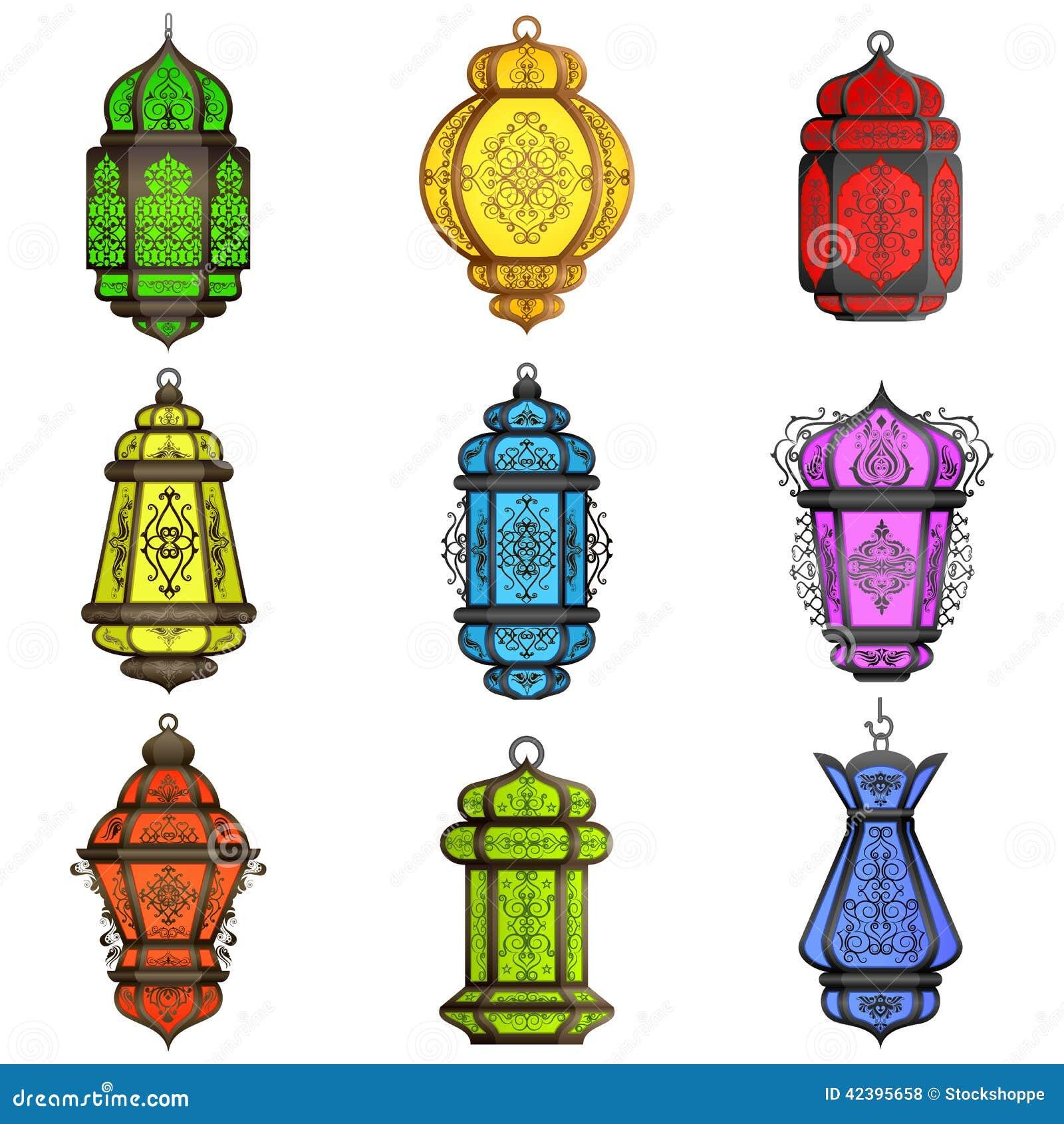 阿拉伯五颜六色的闪亮指示
