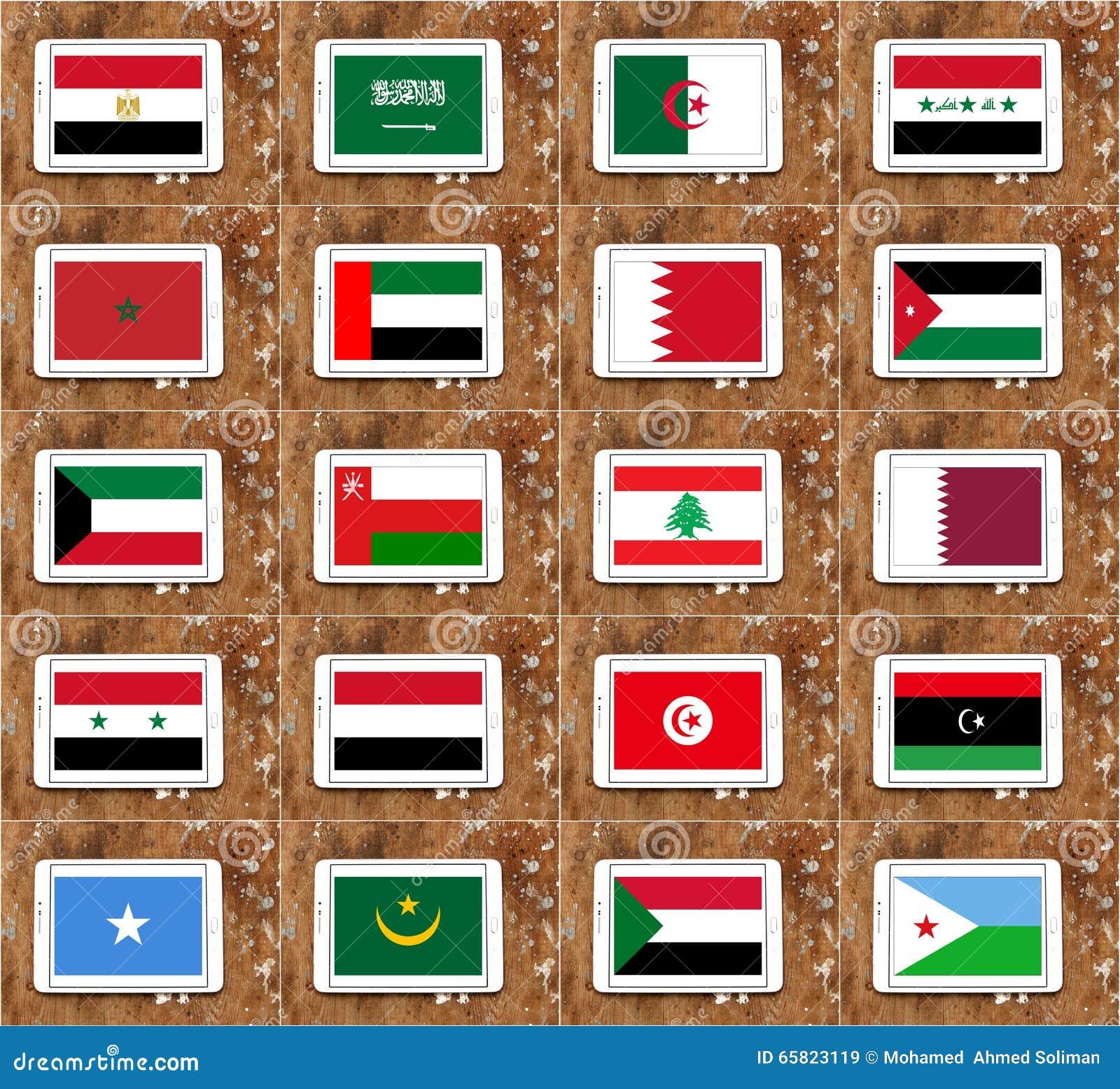 阿拉伯国家旗子