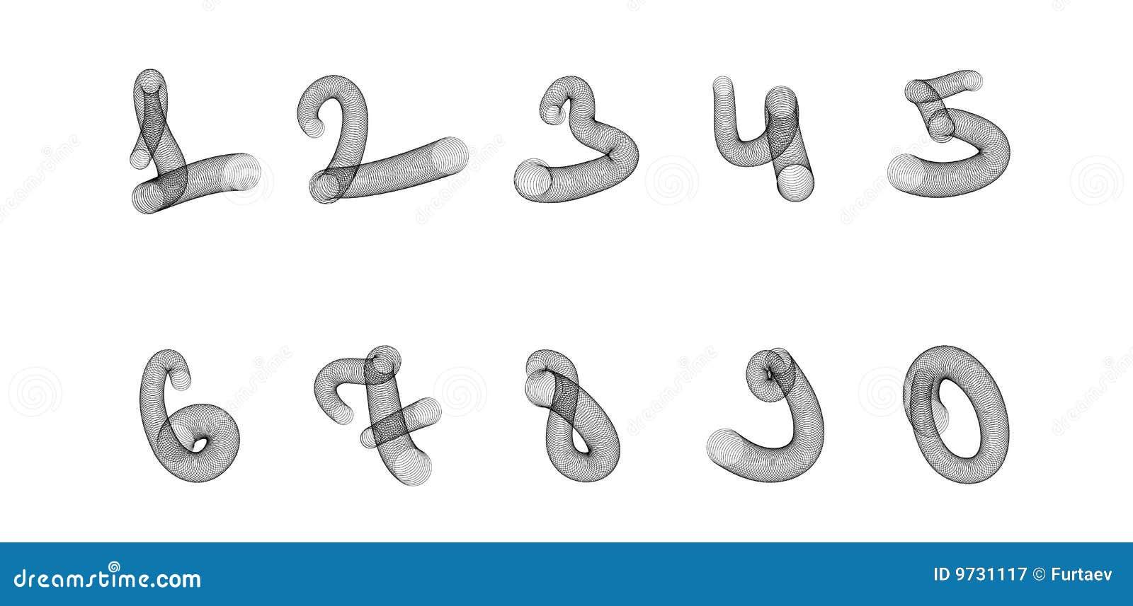 手写数字九_漂亮的手写数字_手写艺术数字_银行数字手写 - 黑马素材网图片