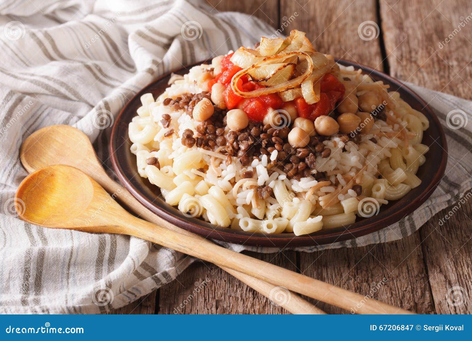 阿拉伯烹调:米、面团、鸡豆和扁豆分类kushari