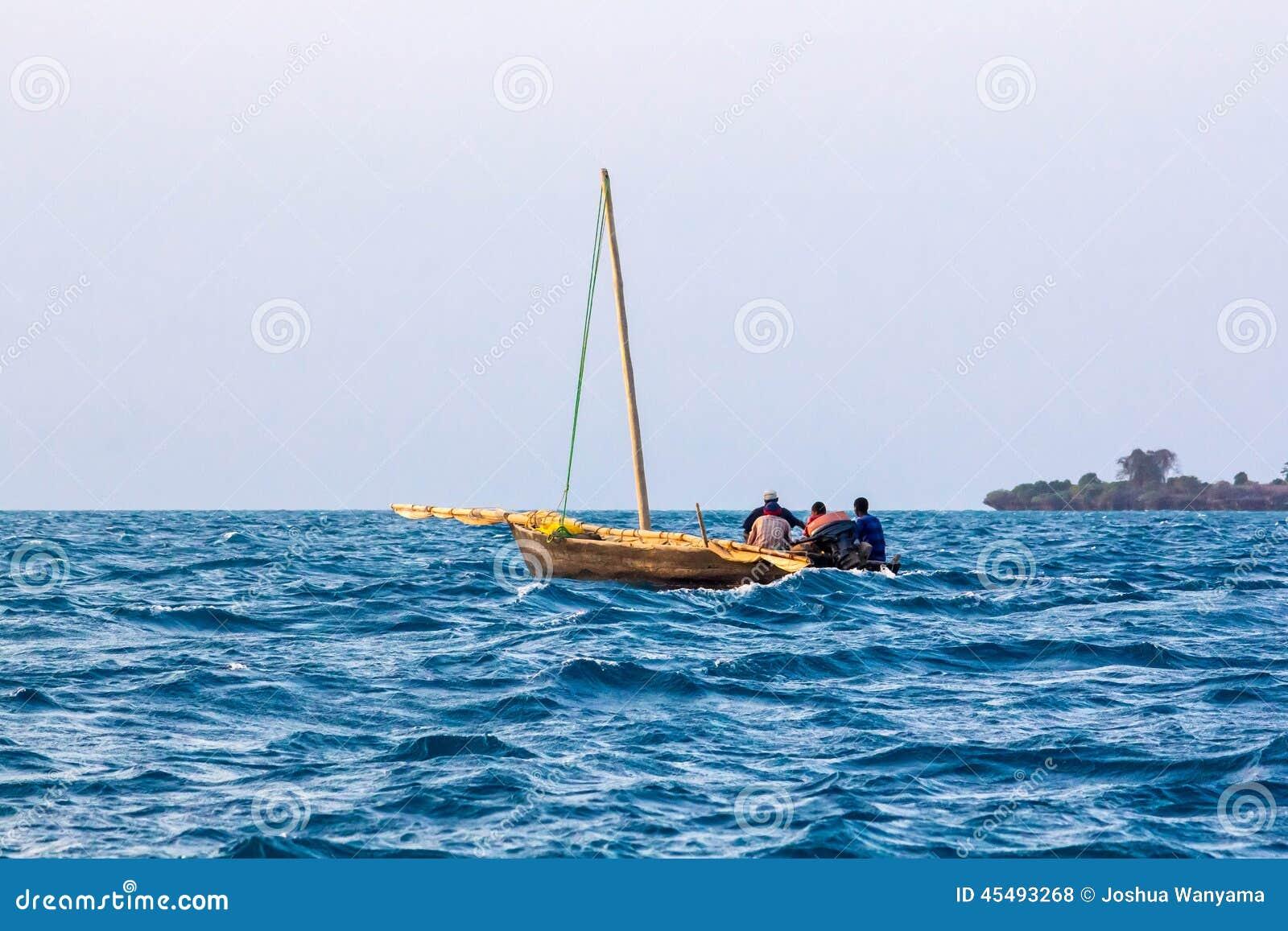 阿拉伯航行单桅三角帆船
