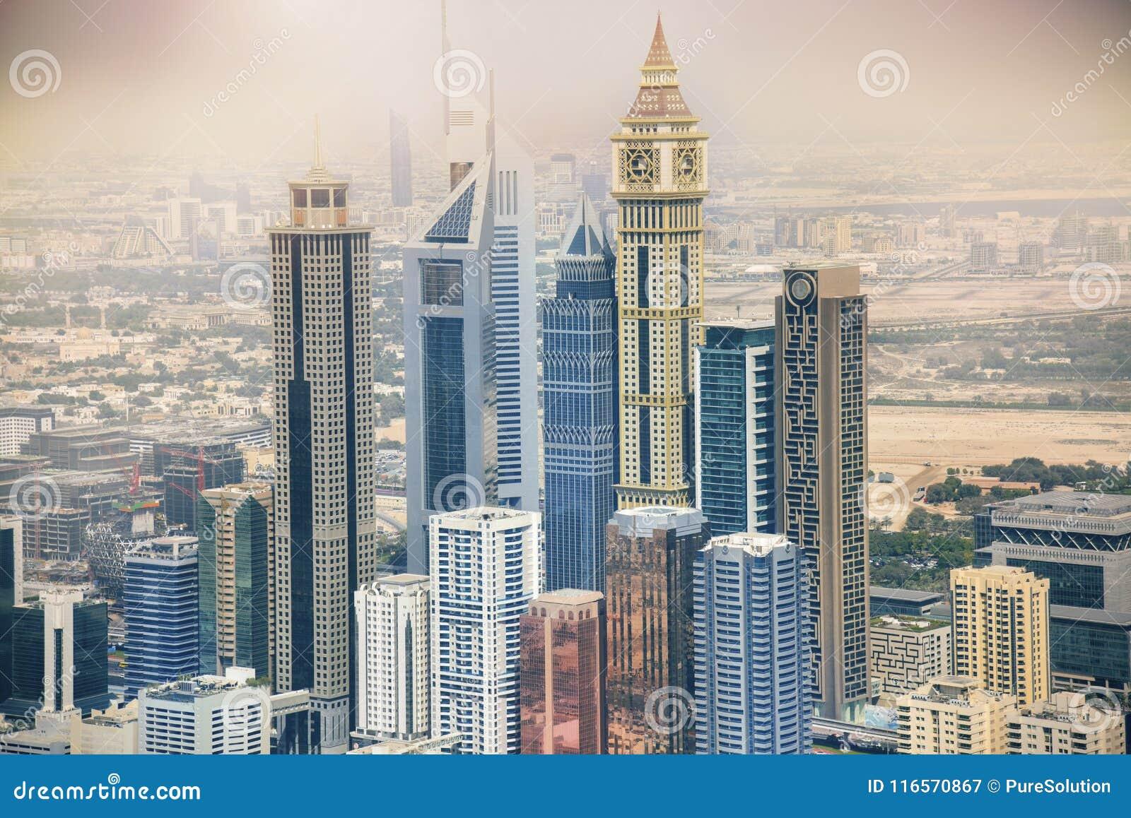 阿拉伯迪拜酋长管辖区摩天大楼团结&#