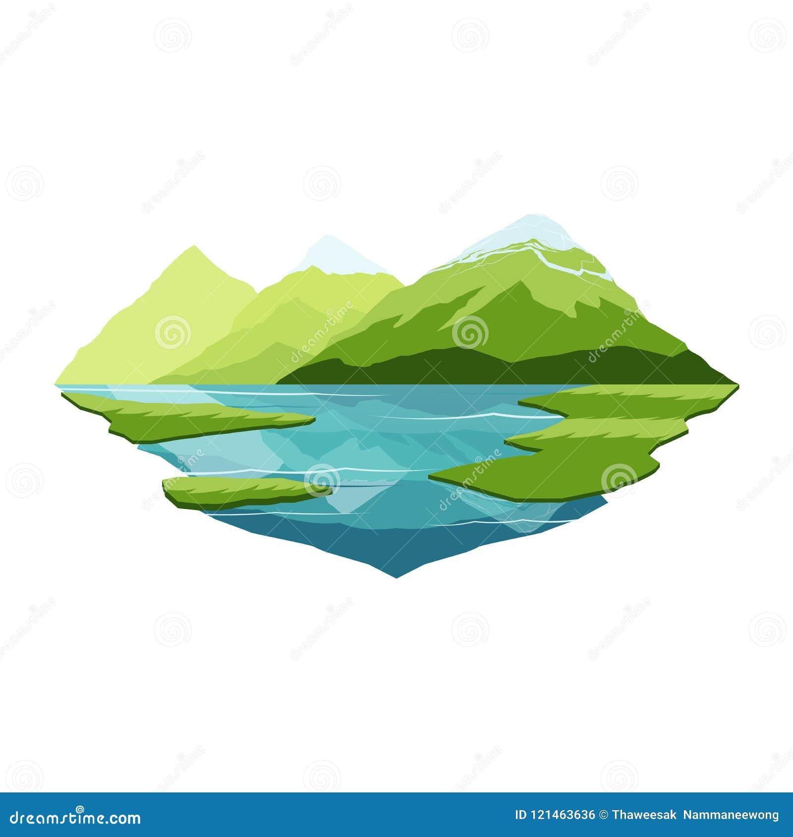 阿拉斯加山和湖反射风景