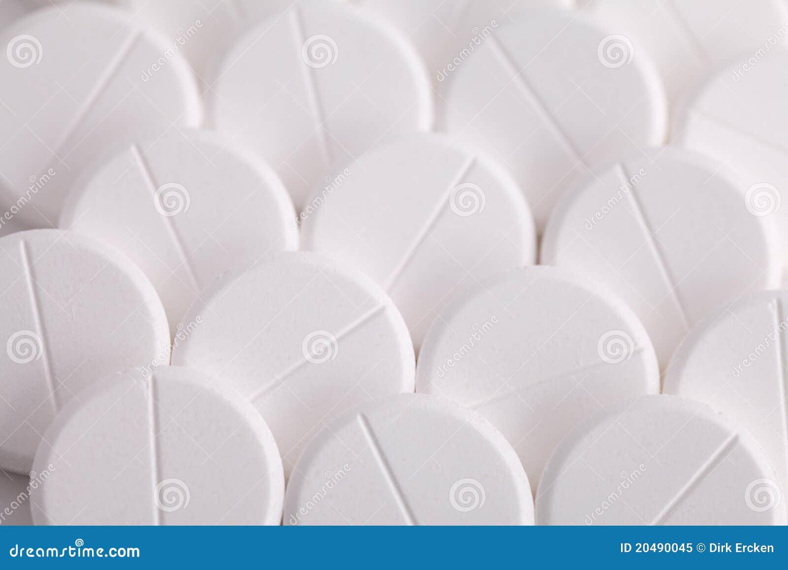 阿斯匹灵止痛药扑热息痛药片来回白&#