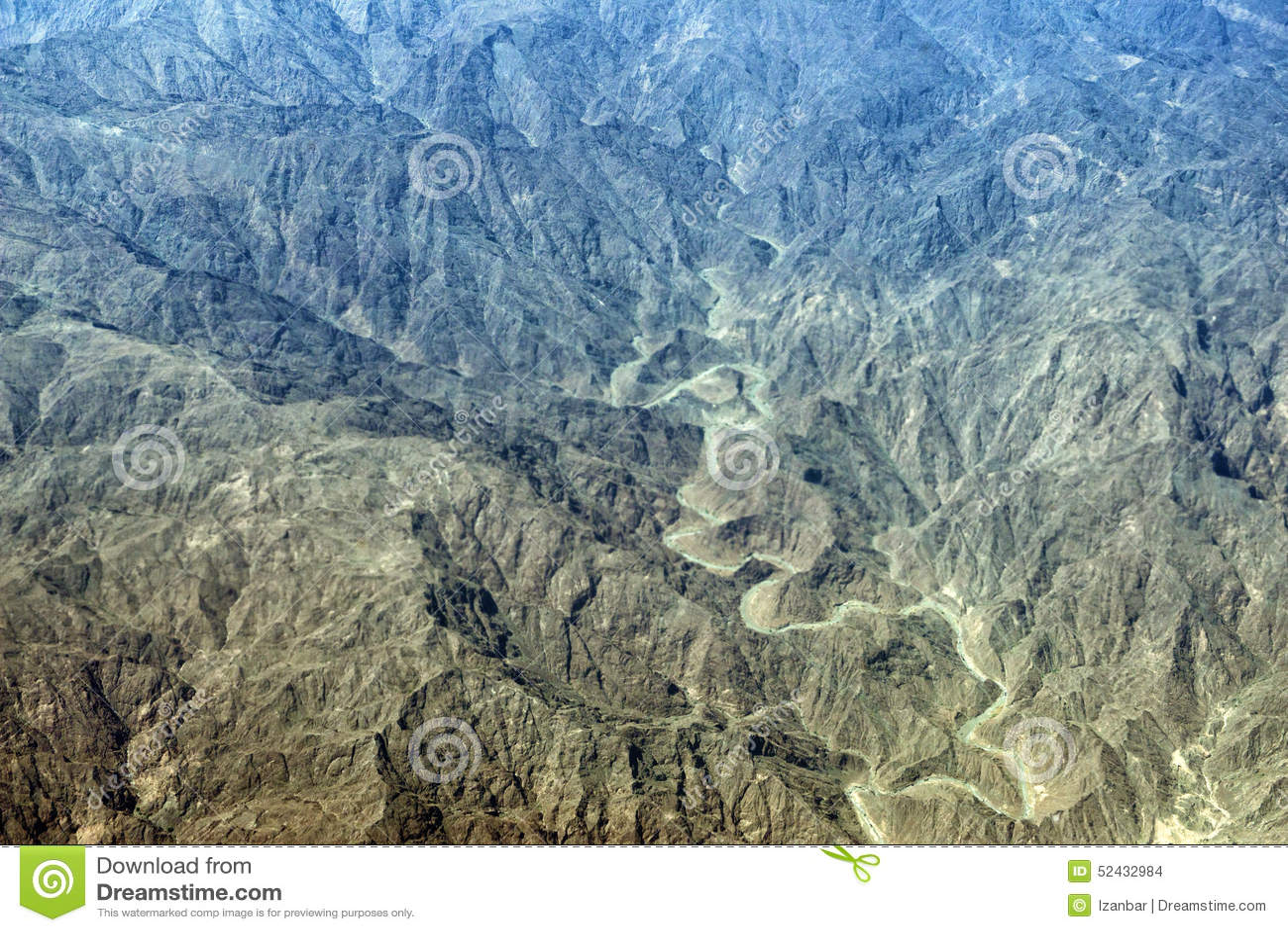 阿曼山鸟瞰图风景