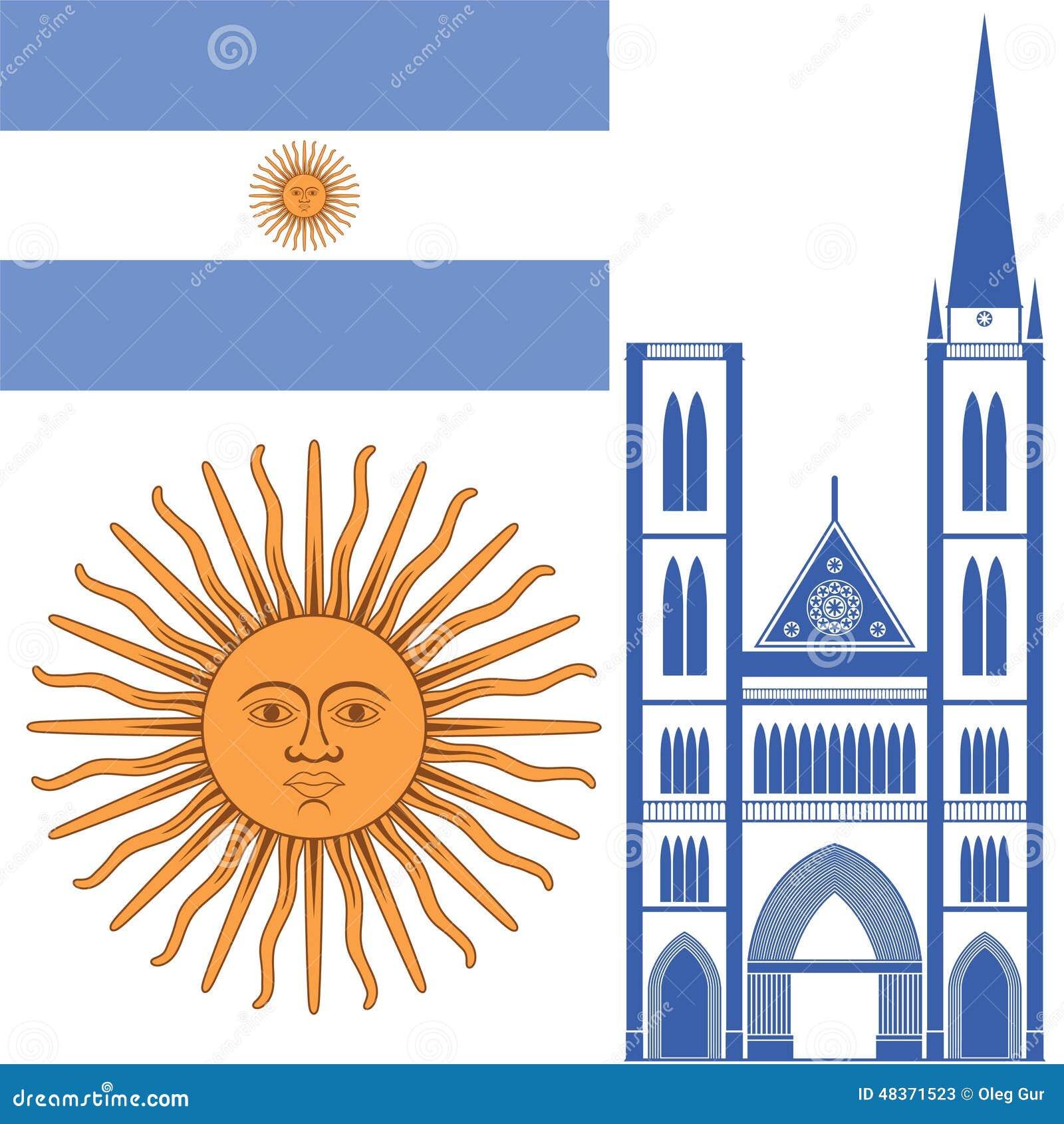 阿根廷 向量例证(eps 10).