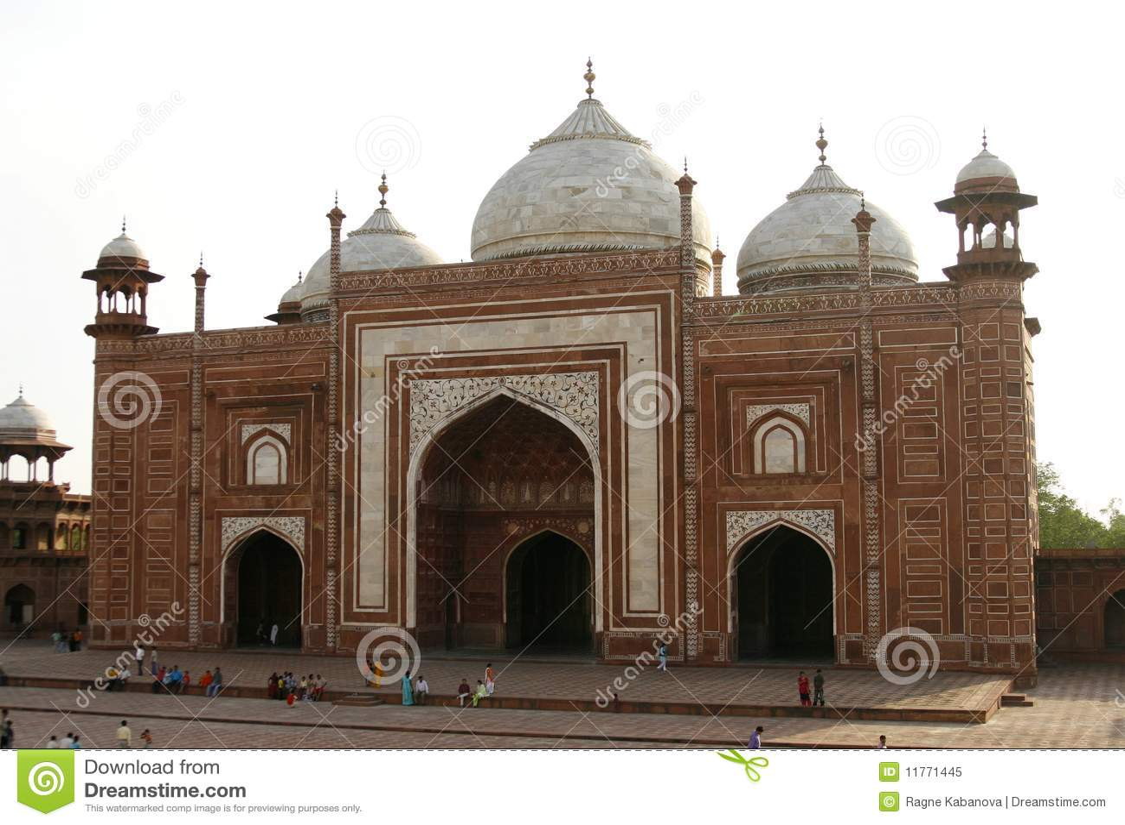 阿格拉印度mahal masjid清真寺下taj