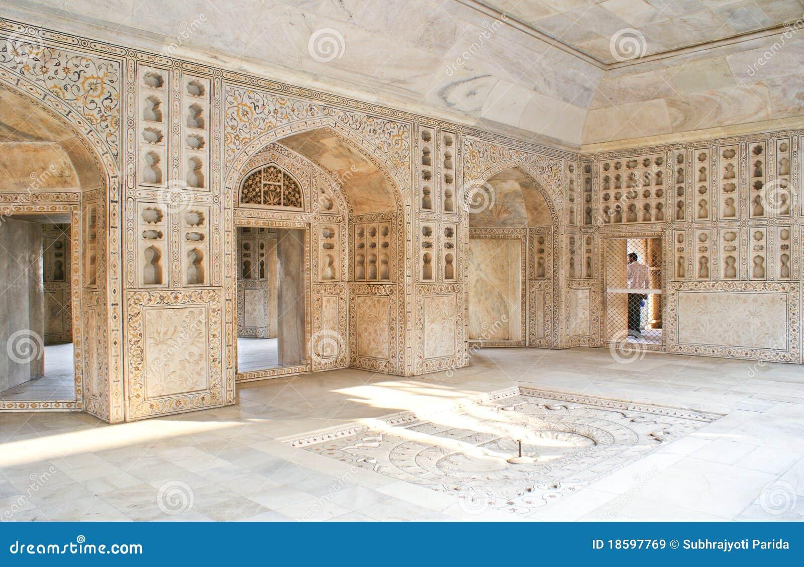 阿格拉burj堡垒musamman印度的内部