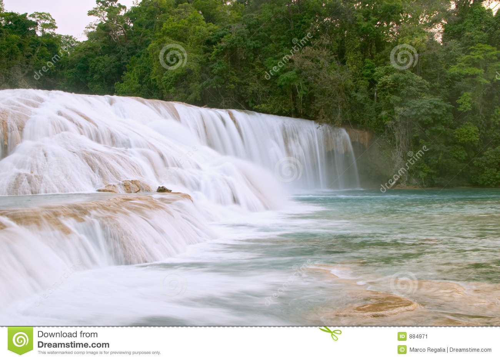 阿瓜azul cascadas de waterfall