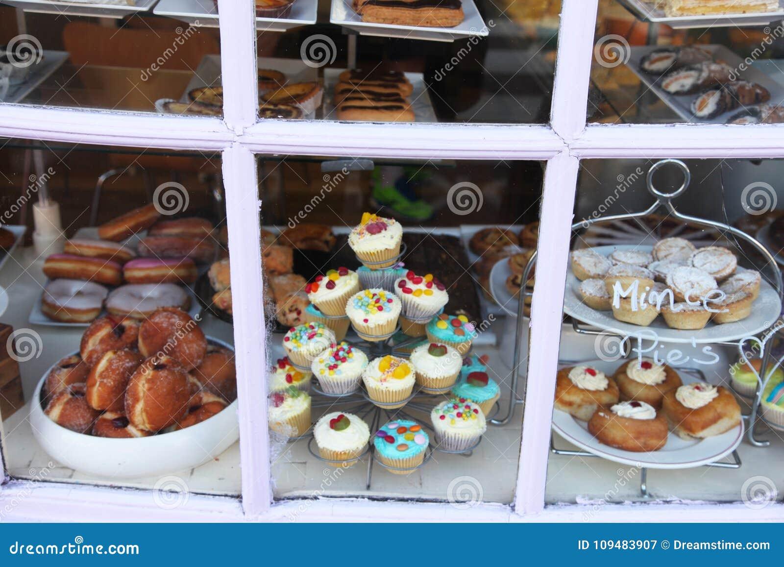 陈列室面包店在伦敦