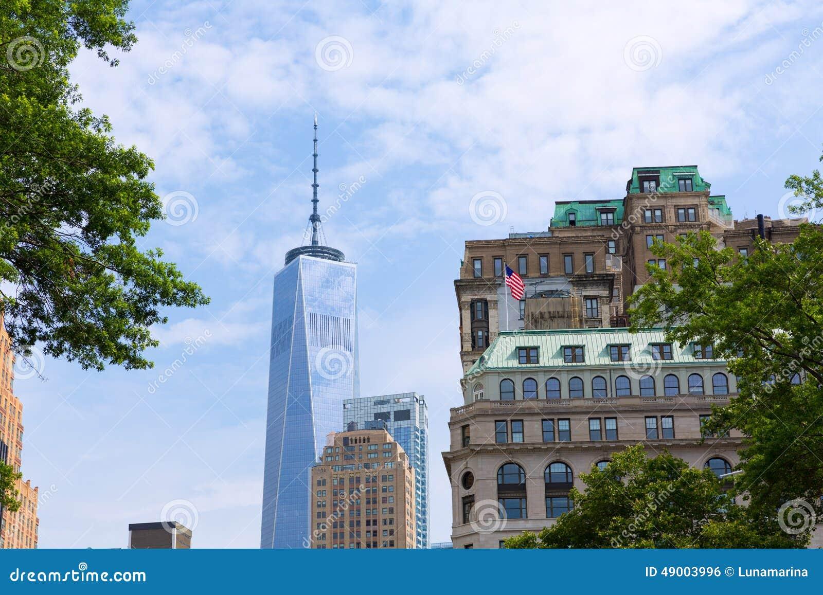 降低曼哈顿新的地平线自由塔美国