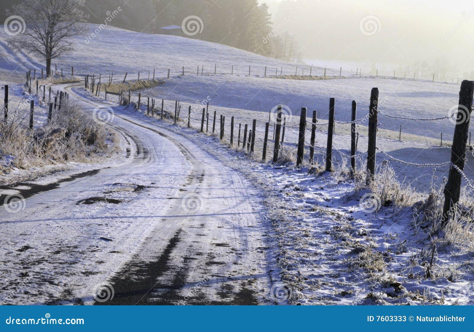 降雪在乡下