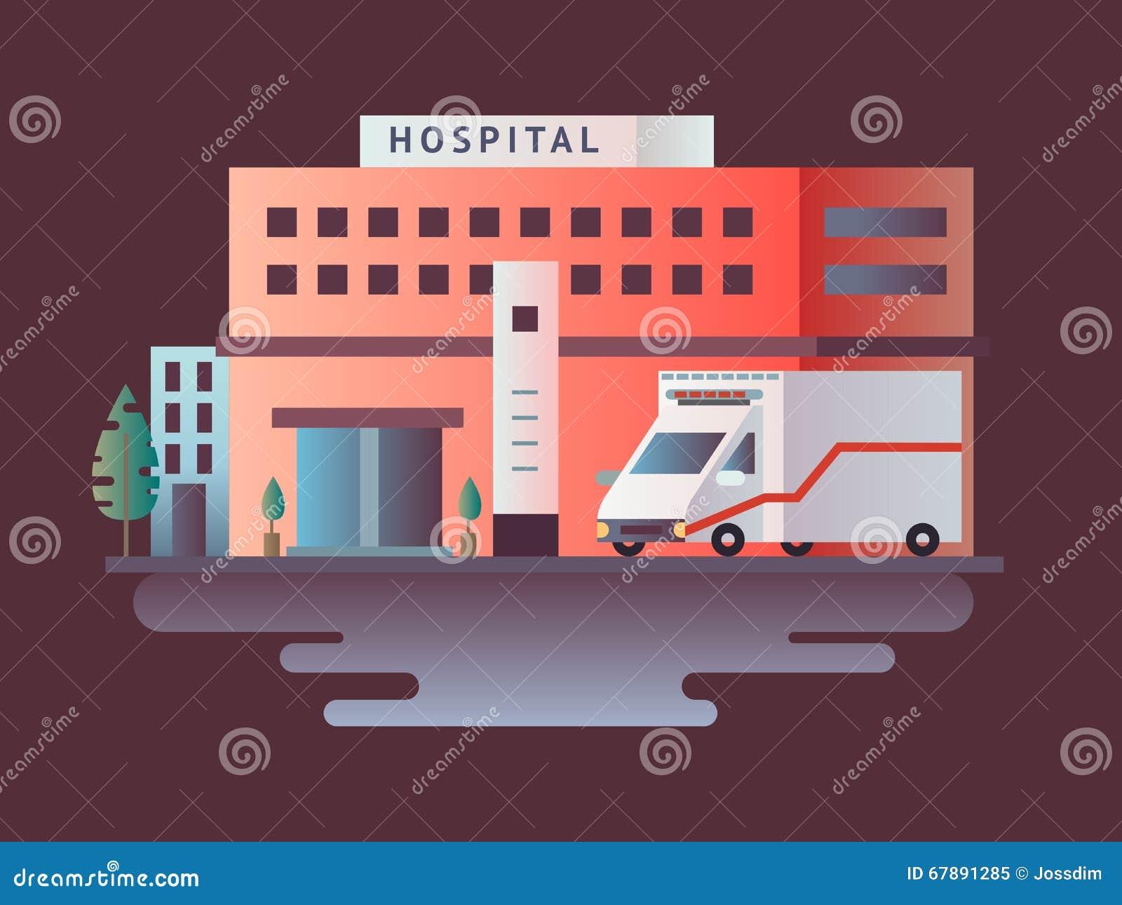 医院平大厦的设计