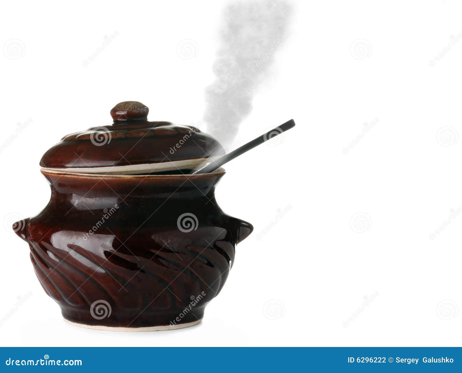 陶瓷平底深锅蒸汽