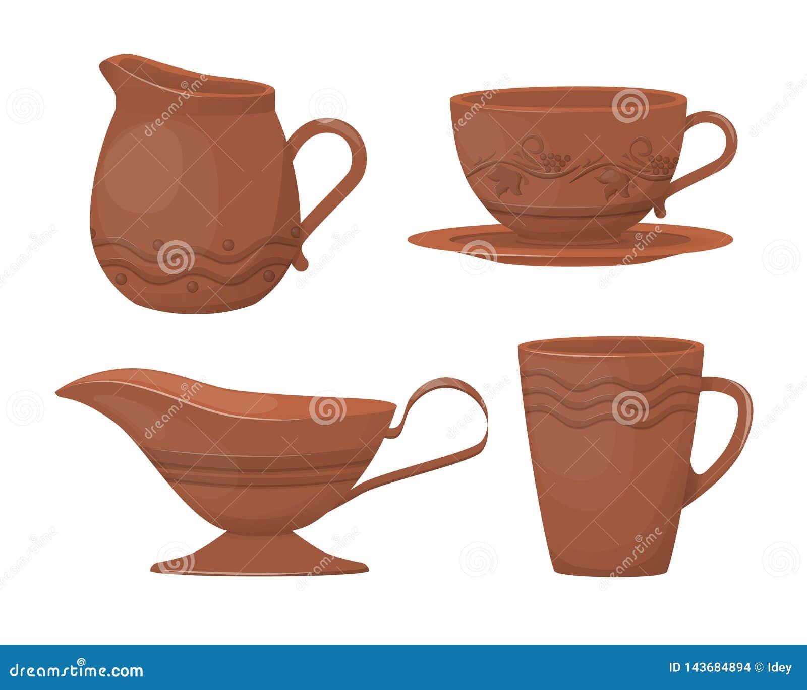 陶瓷瓦器 与一件装饰装饰品的美丽的黏土玻璃水瓶