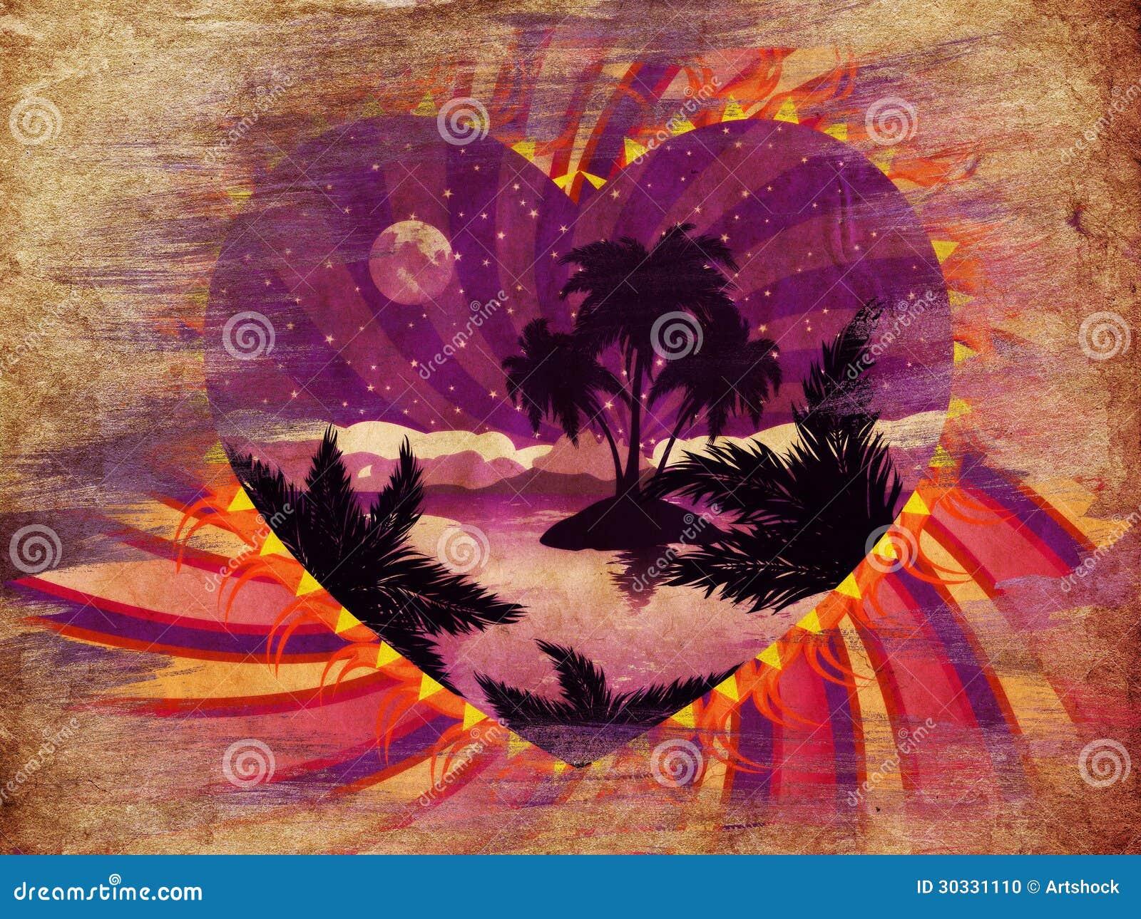难看的东西热带海岛在心脏