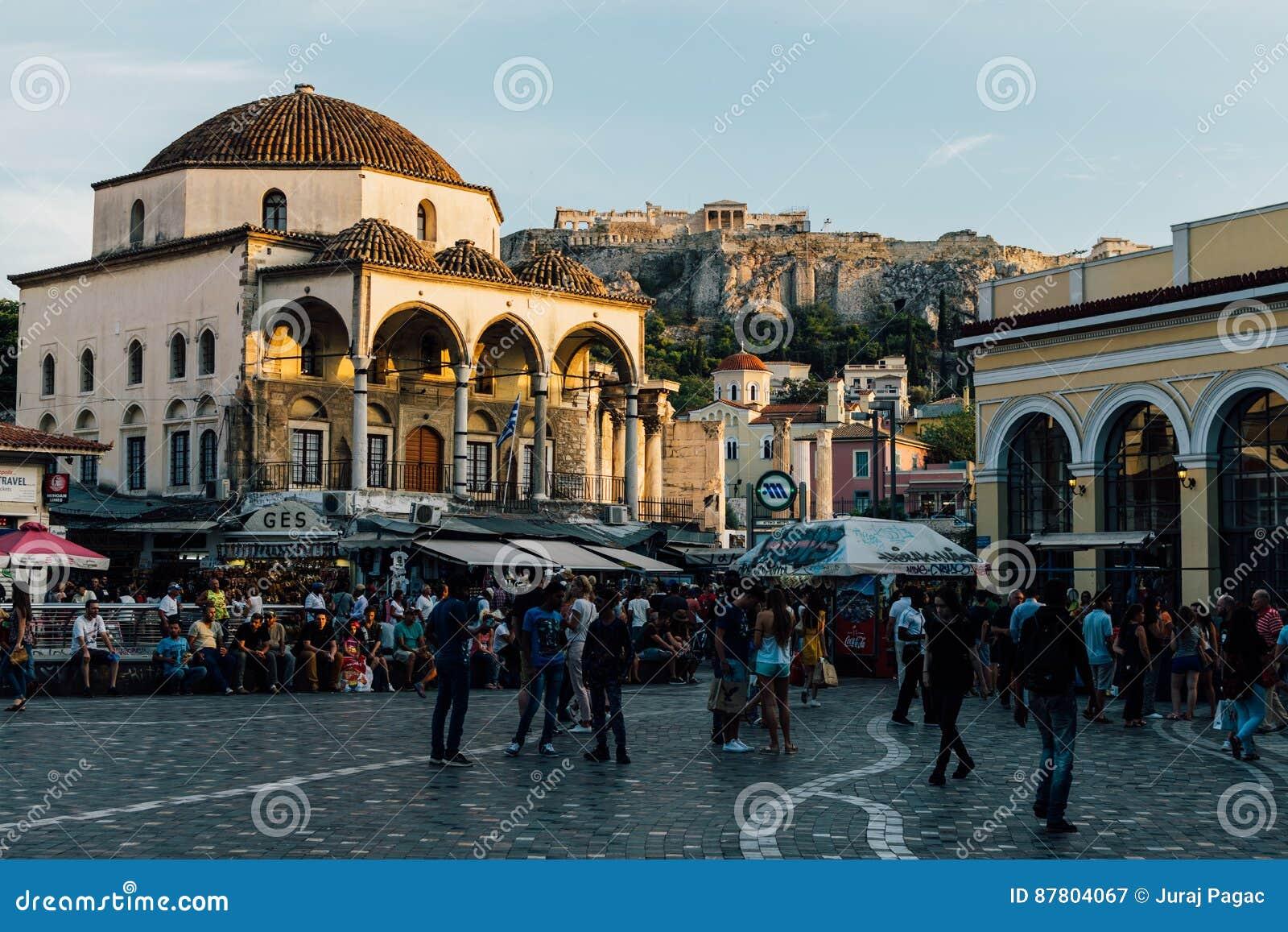 雅典希腊monastiraki正方形