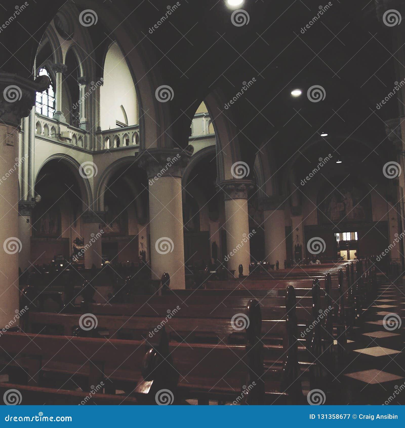 雅加达圣母升天主教座堂内部和博物馆在雅加达,印度尼西亚