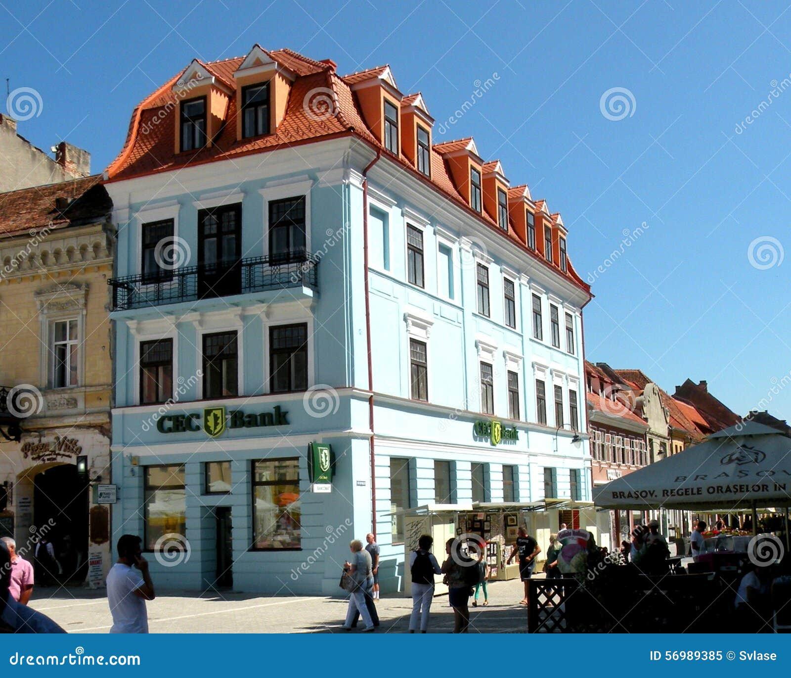 集市广场在布拉索夫(Kronstadt), Transilvania,罗马尼亚