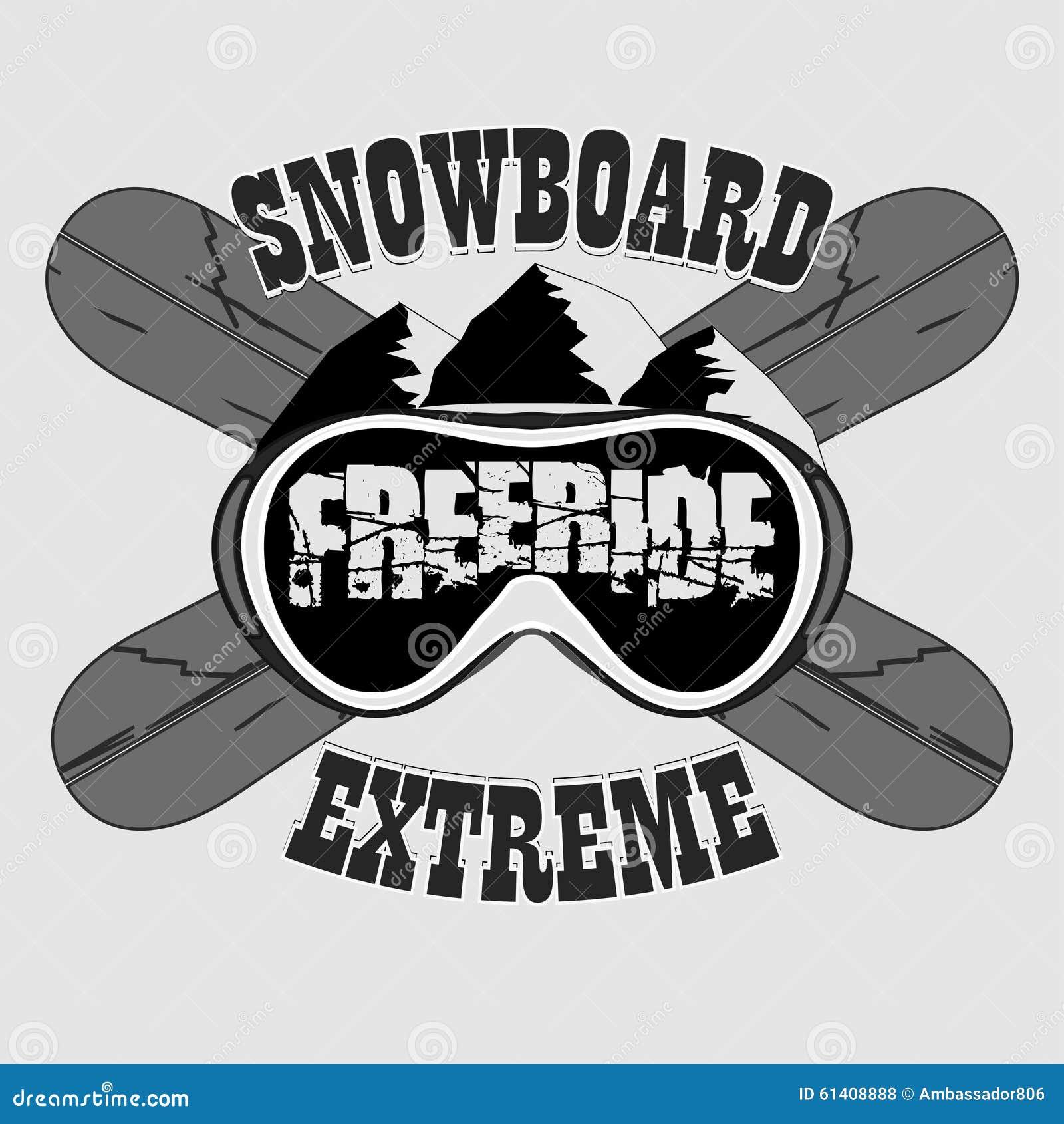 雪板运动T恤杉,冬季体育象征,传染媒介